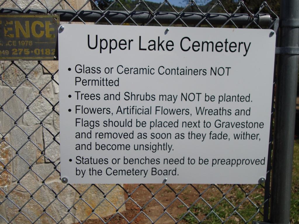 Upper Lake Cemetery