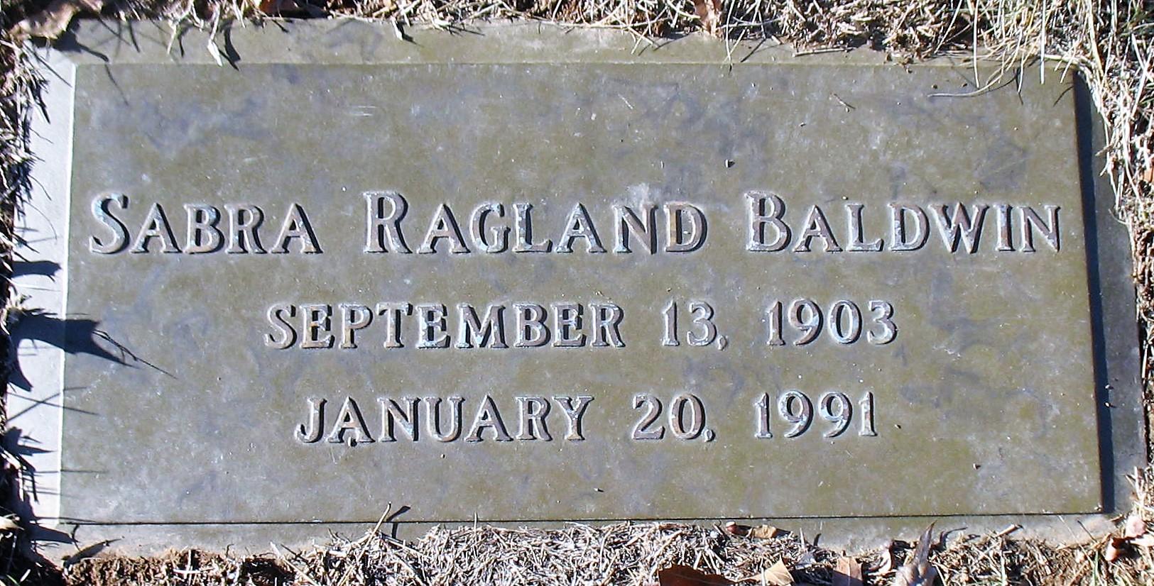 Sabra <i>Ragland</i> Baldwin