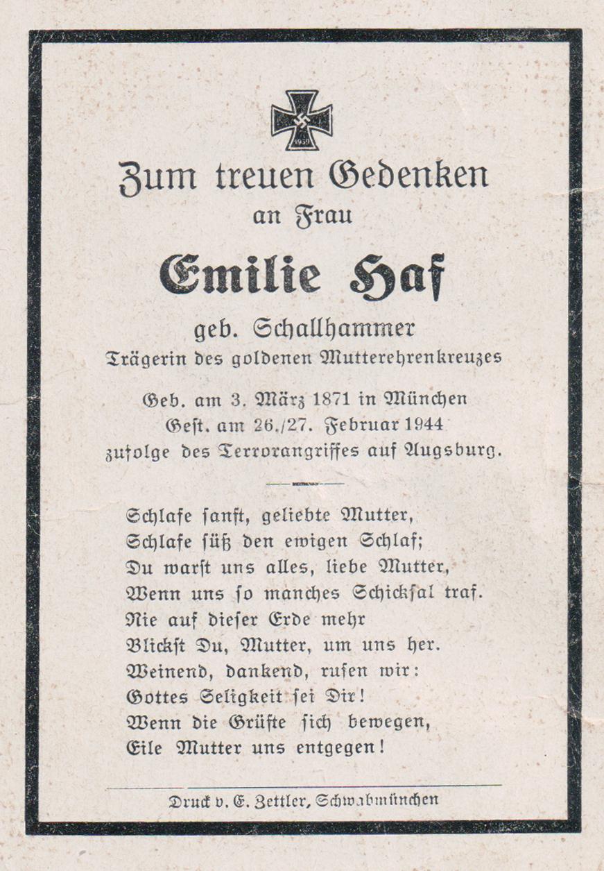 Emilie <i>Schallhammer</i> Haf