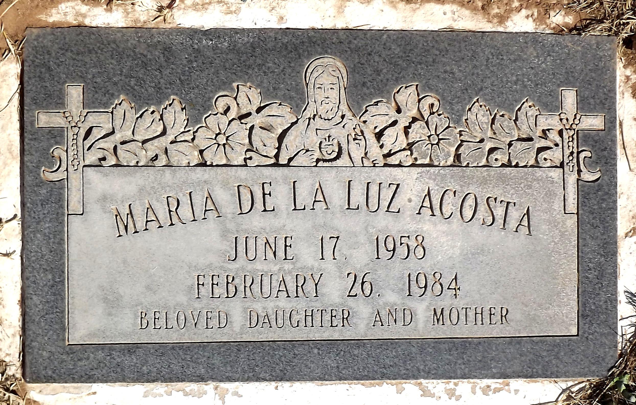 Maria <i>De La Luz</i> Acosta