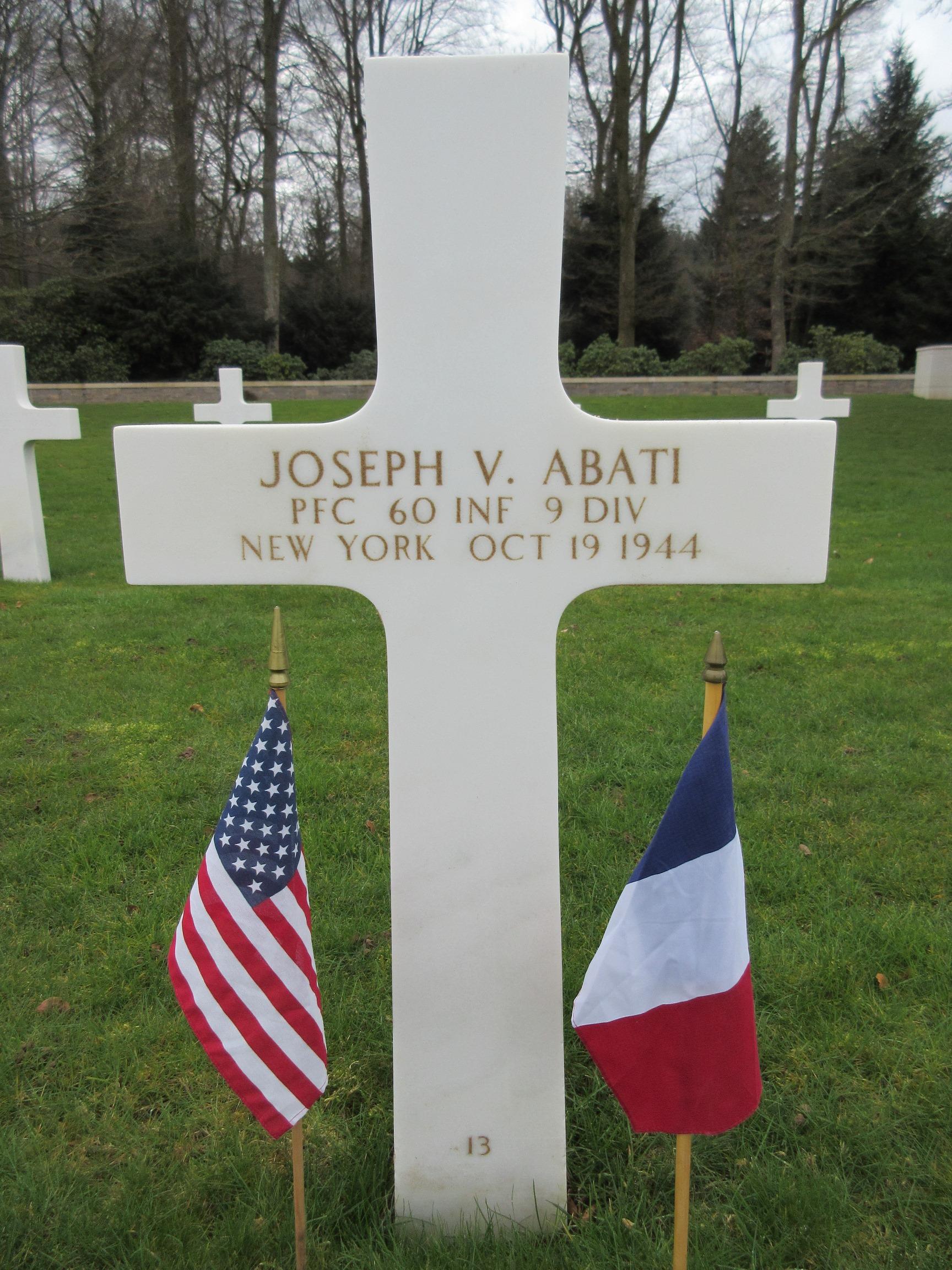 PFC Joseph V Abati