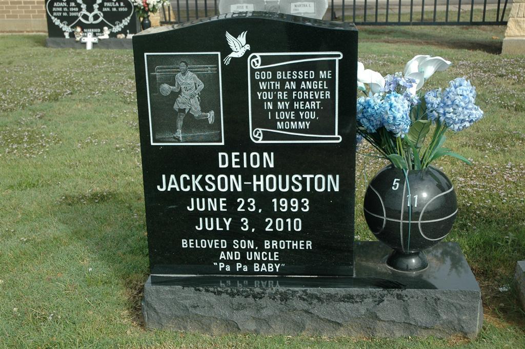 Davion Deion Jackson Houston 1993 2010 Find A Grave Memorial