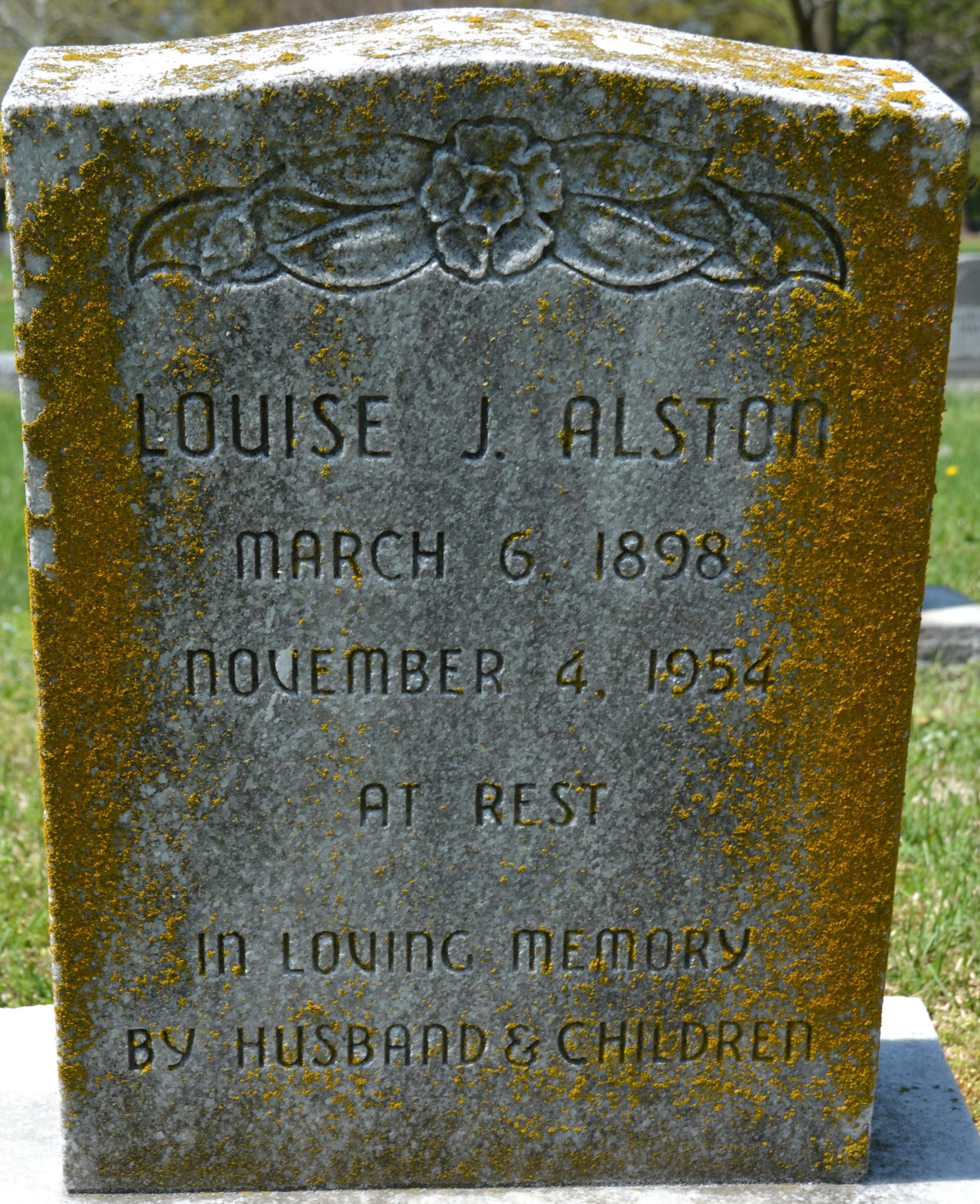 Louise J <i>Harrison</i> Alston