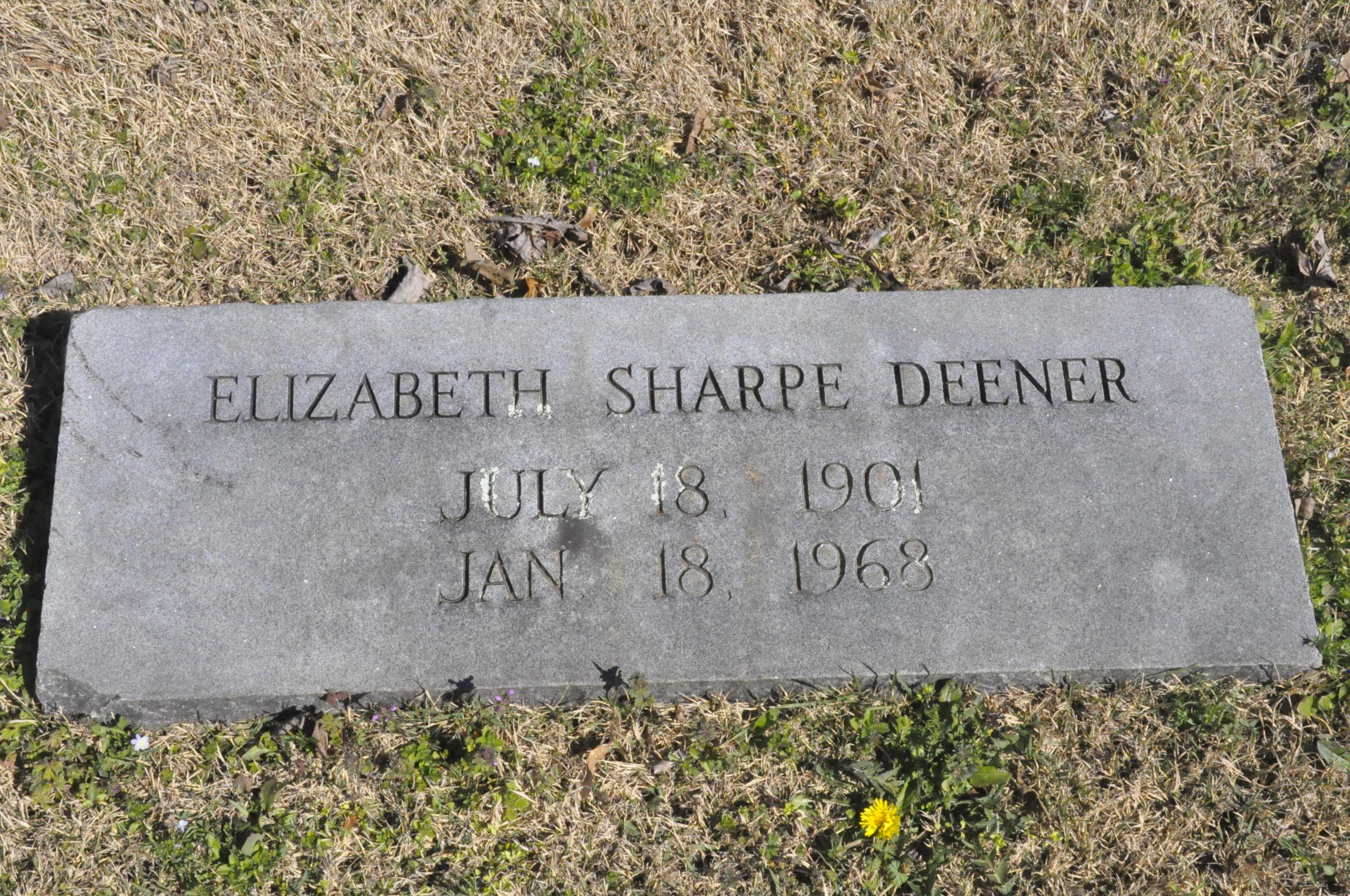 Elizabeth <i>Sharpe</i> Deener