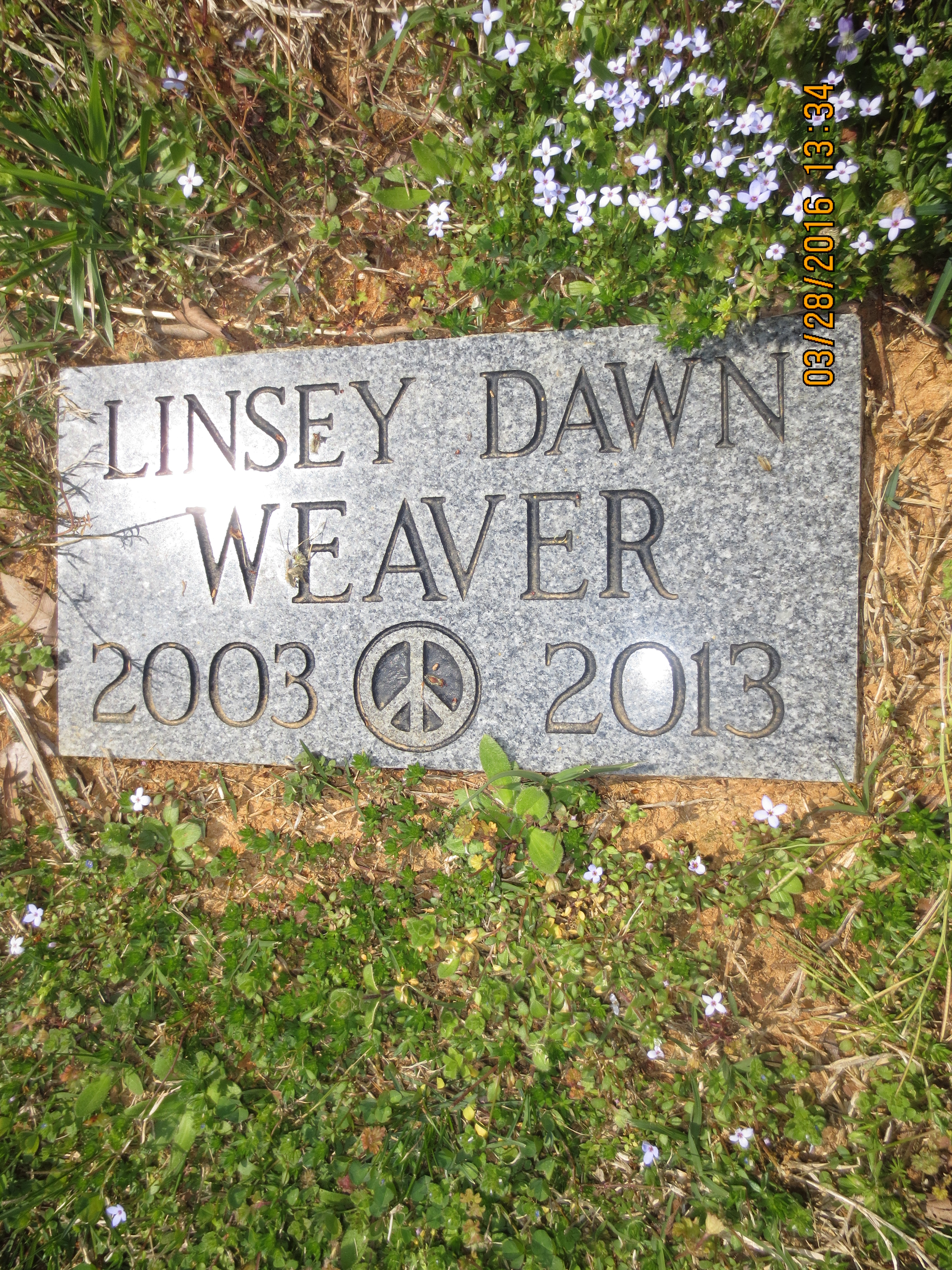 Linsey Dawn Weaver (2003-2013) - Find A Grave Memorial