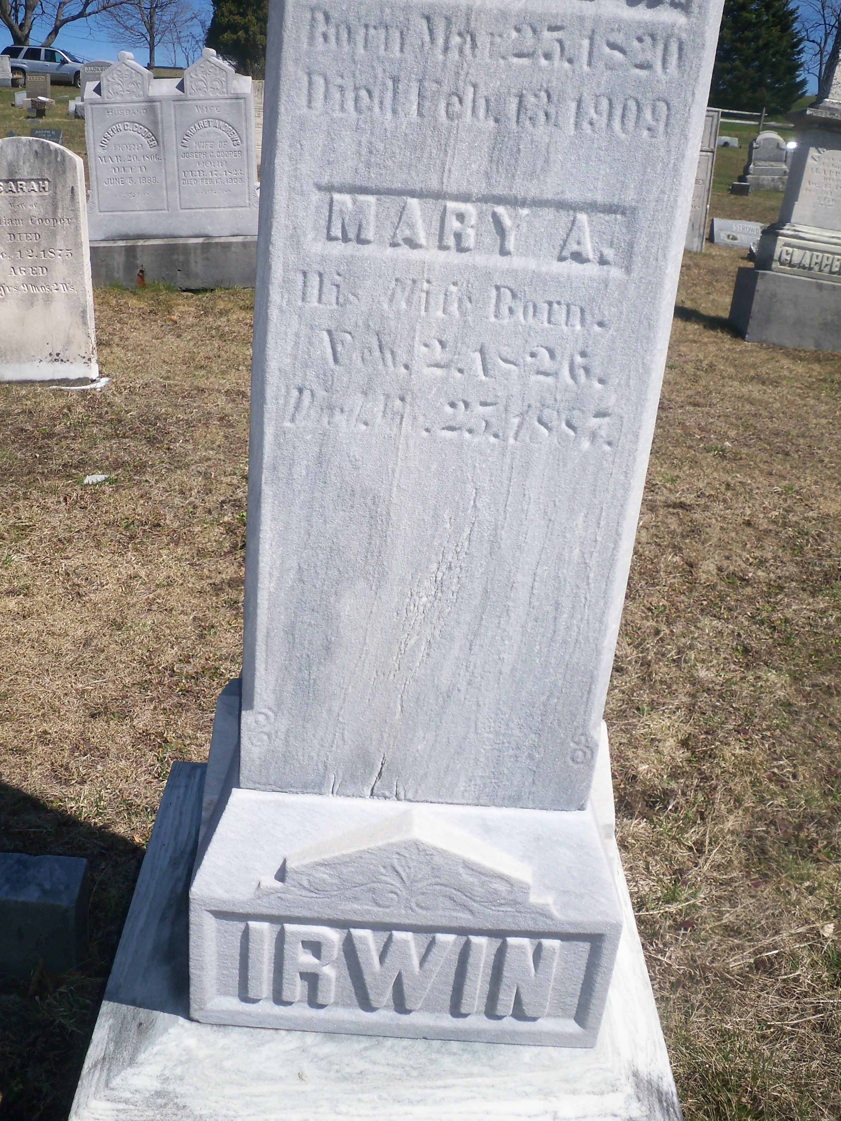 Mary Ann <i>Armstrong</i> Irwin