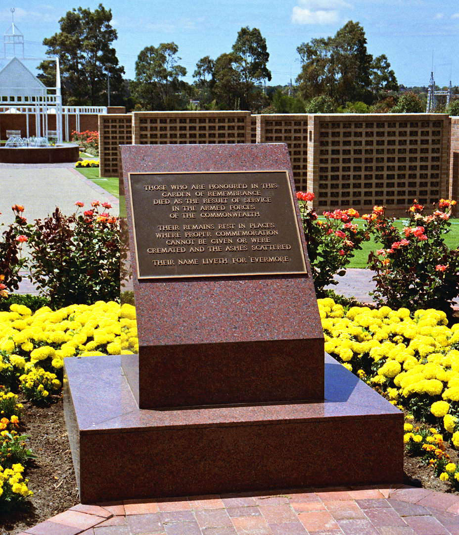 New South Wales Garden of Remembrance in Rookwood, New South Wales ...