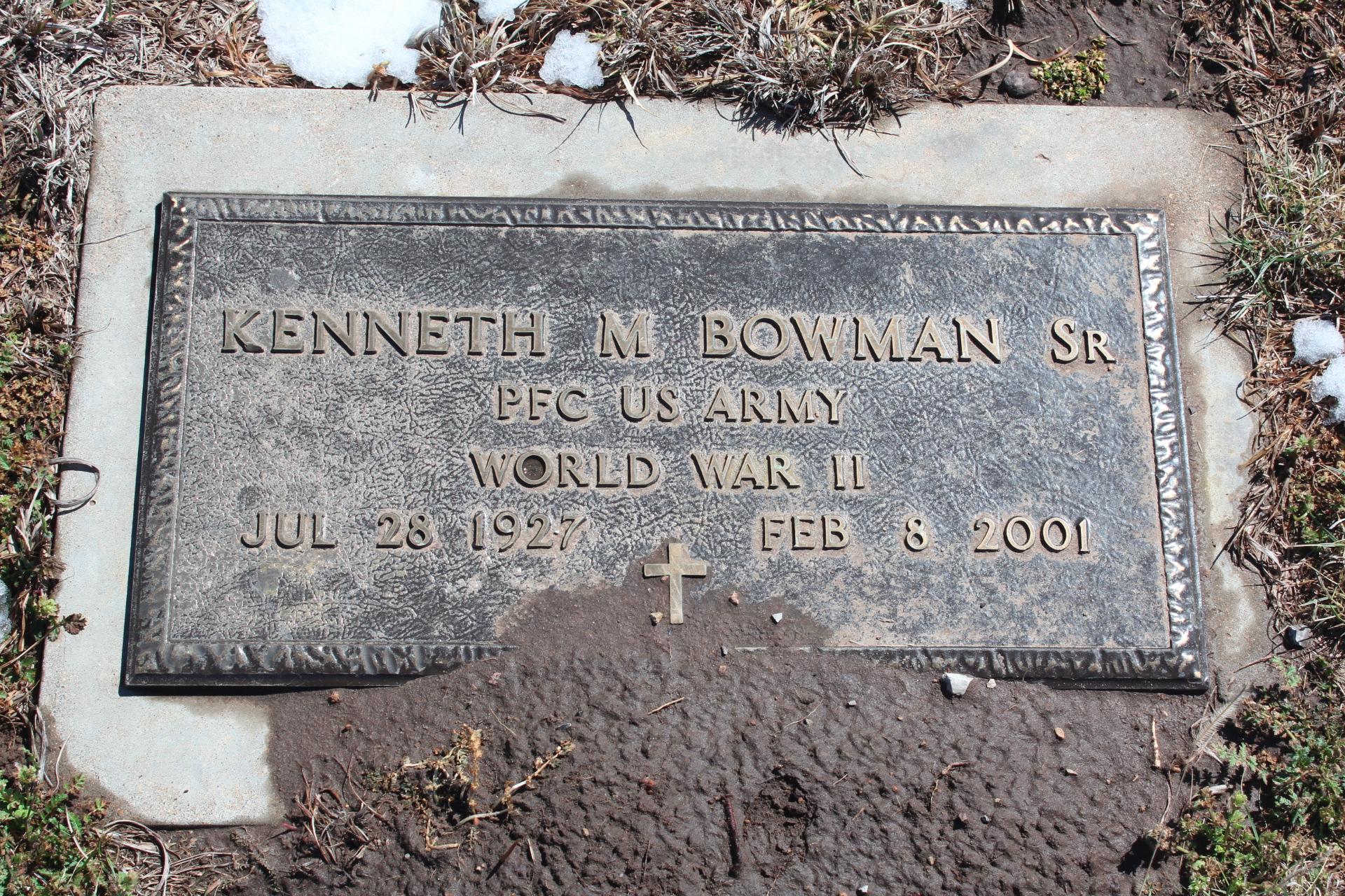 Kenneth M Bowman