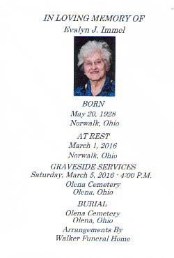 Evalyn J  Burras Immel (1928-2016) - Find A Grave Memorial