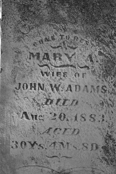 Mary Ann <i>Graves</i> Adams