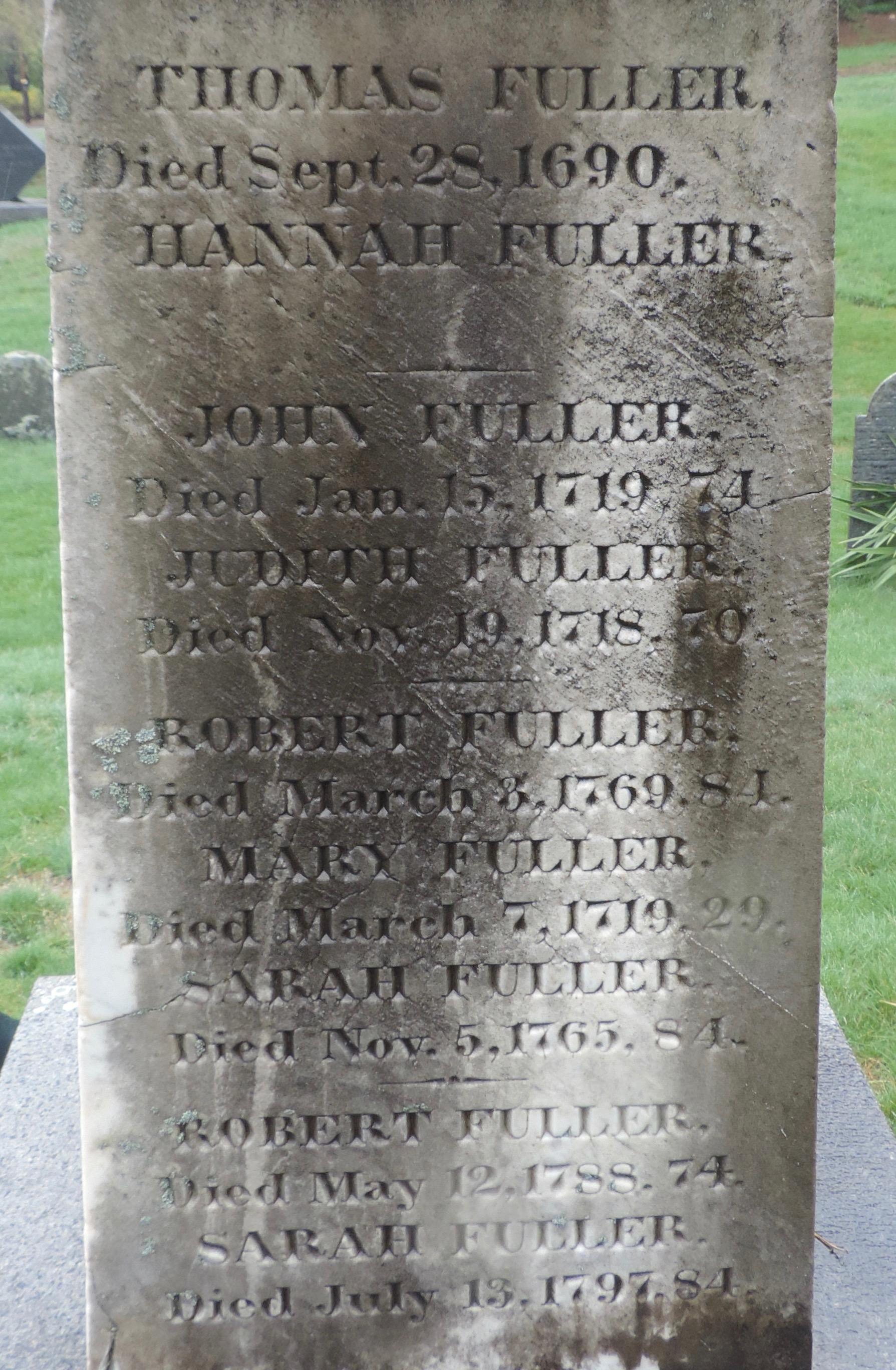 Lieut Thomas Fuller