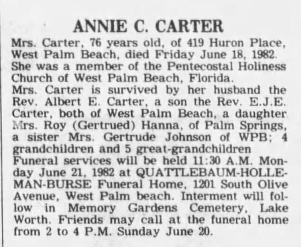 Annie C Carter