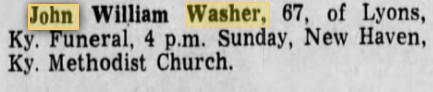 John William Washer