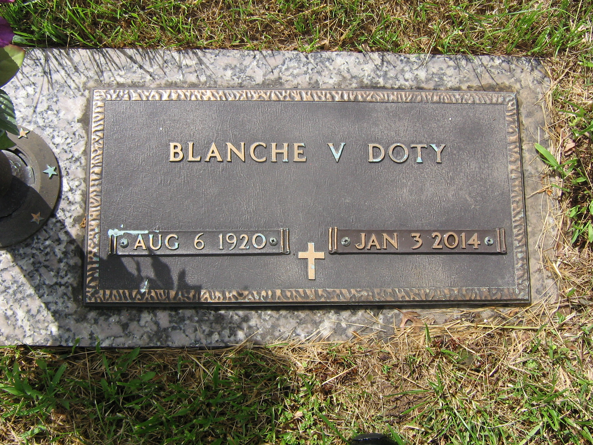 Blanche Virginia <i>Mayfield</i> Doty