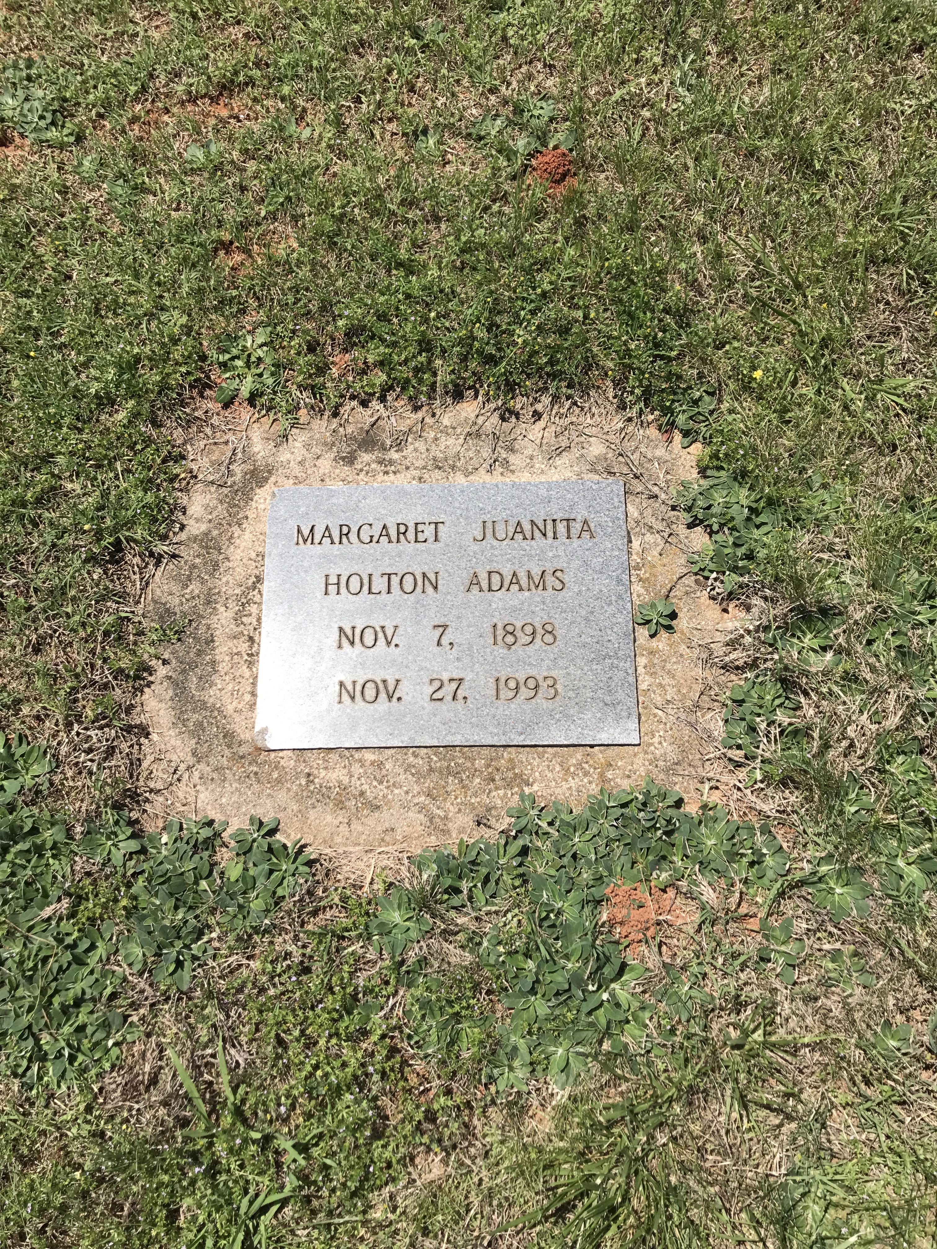 Margaret Juanita <i>Holton</i> Adams