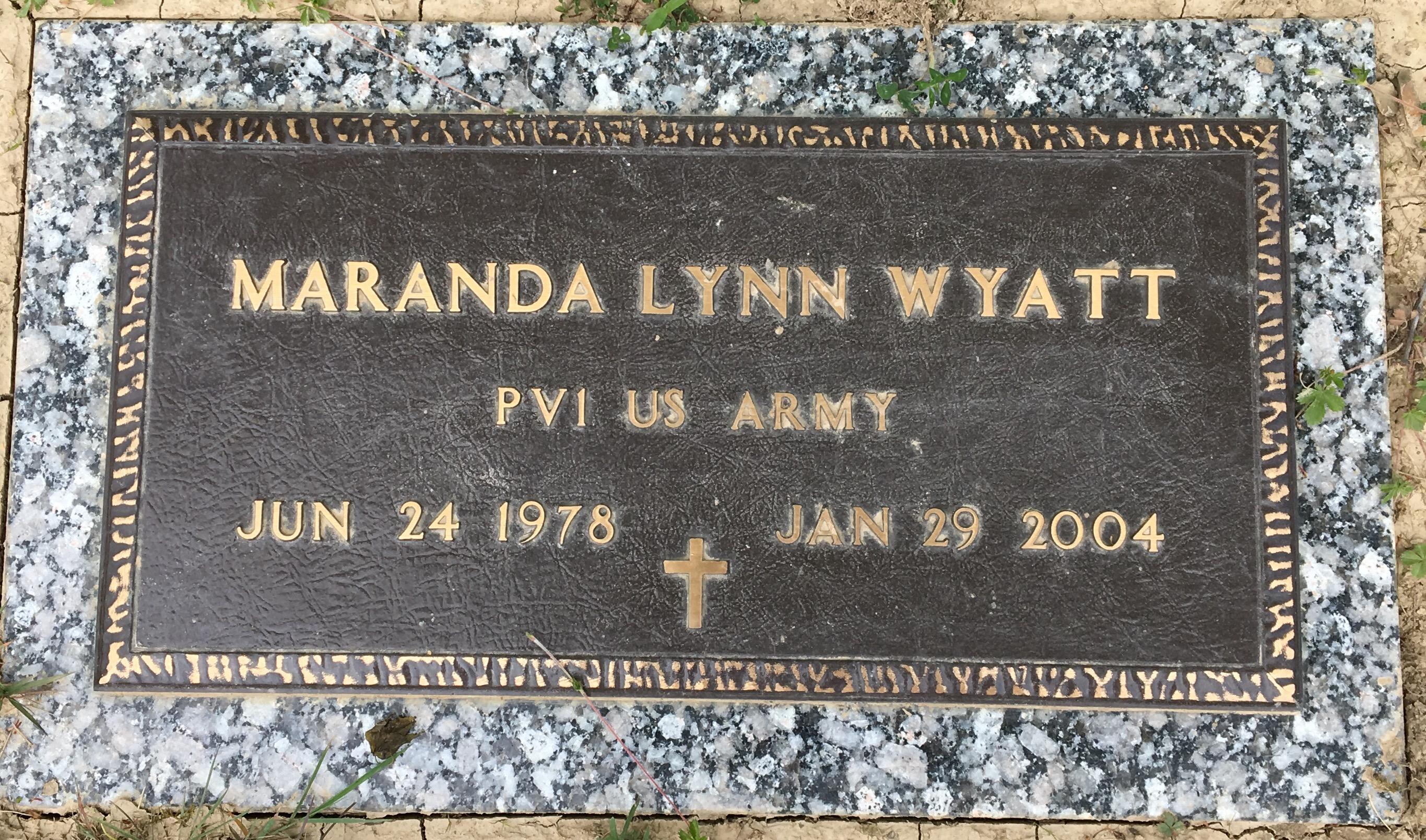 Maranda Lynn Wyatt Find A Grave Memorial