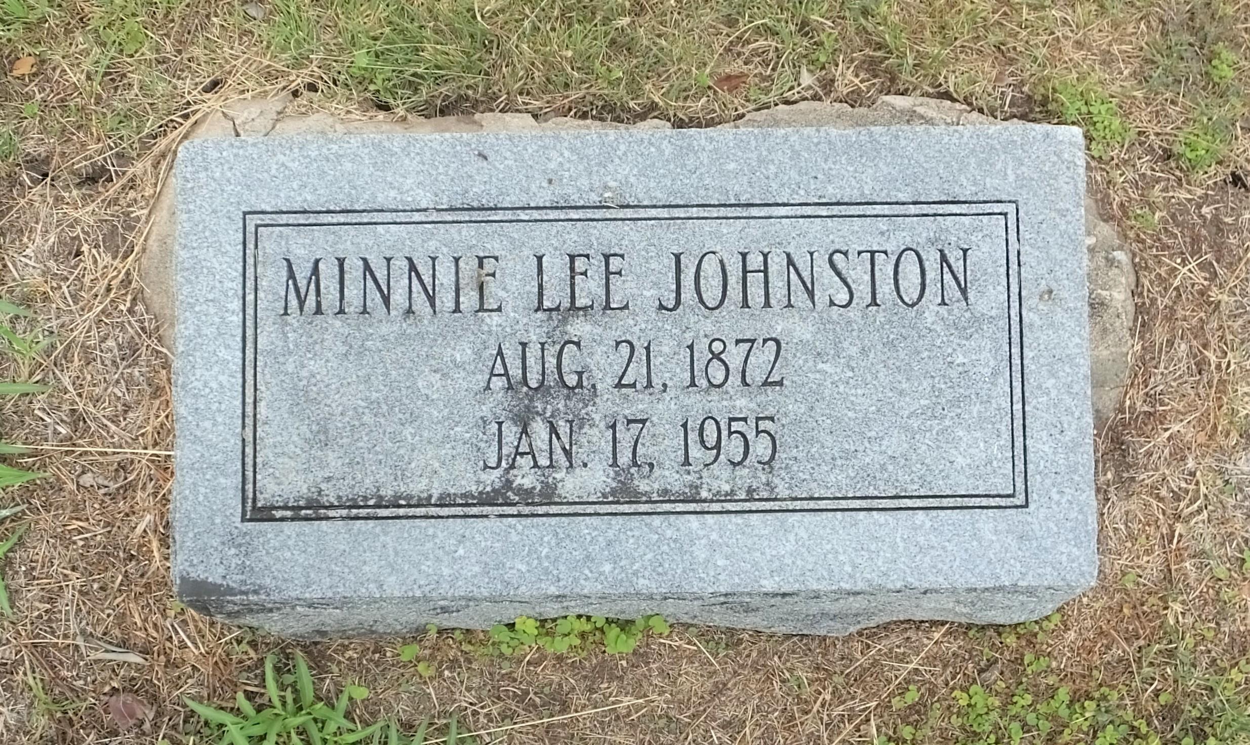 Minnie <i>Lee</i> Johnston