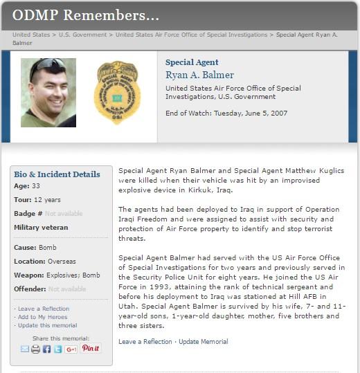 Sgt Ryan Andrew Balmer