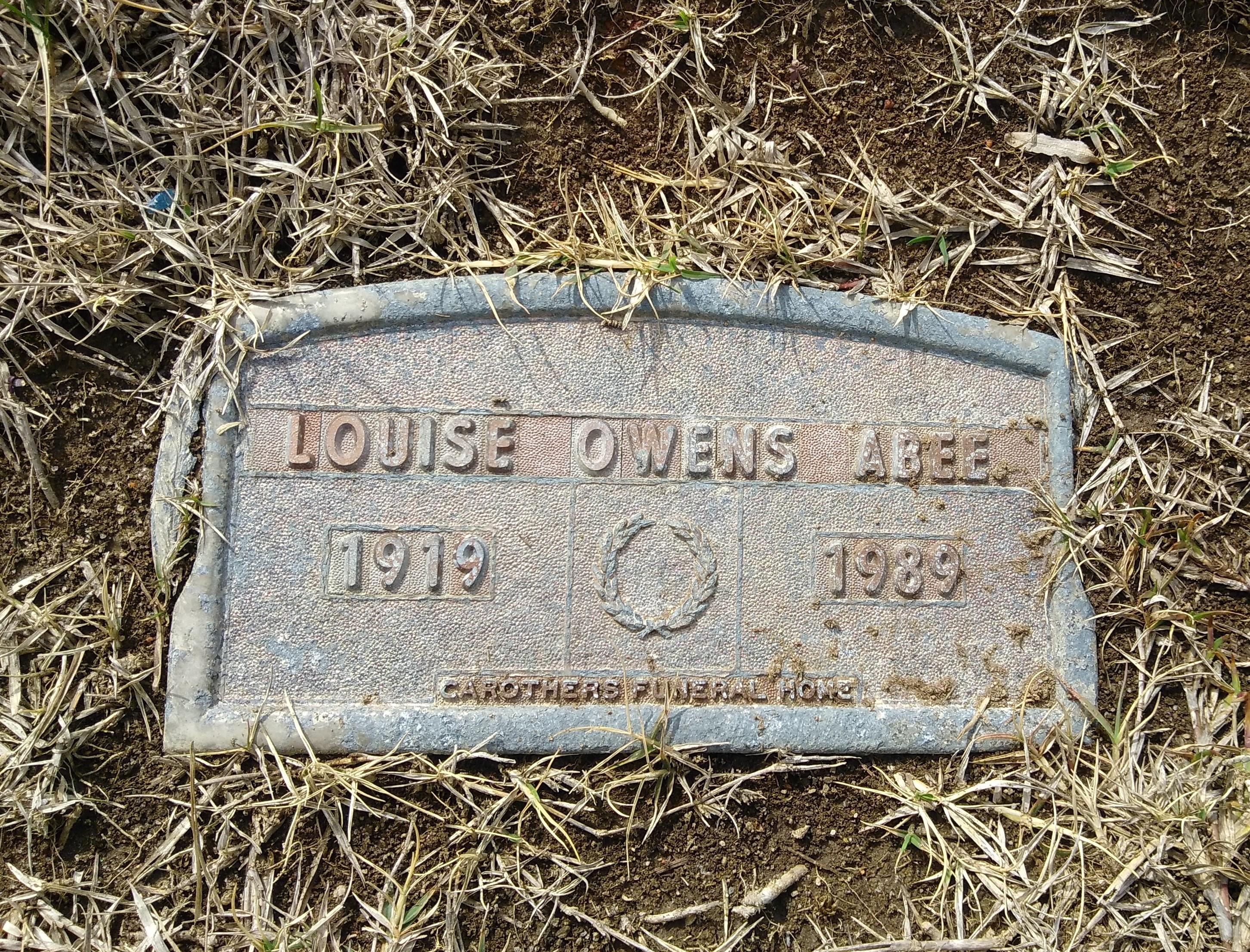 Claudia Louise <i>Owens</i> Abee