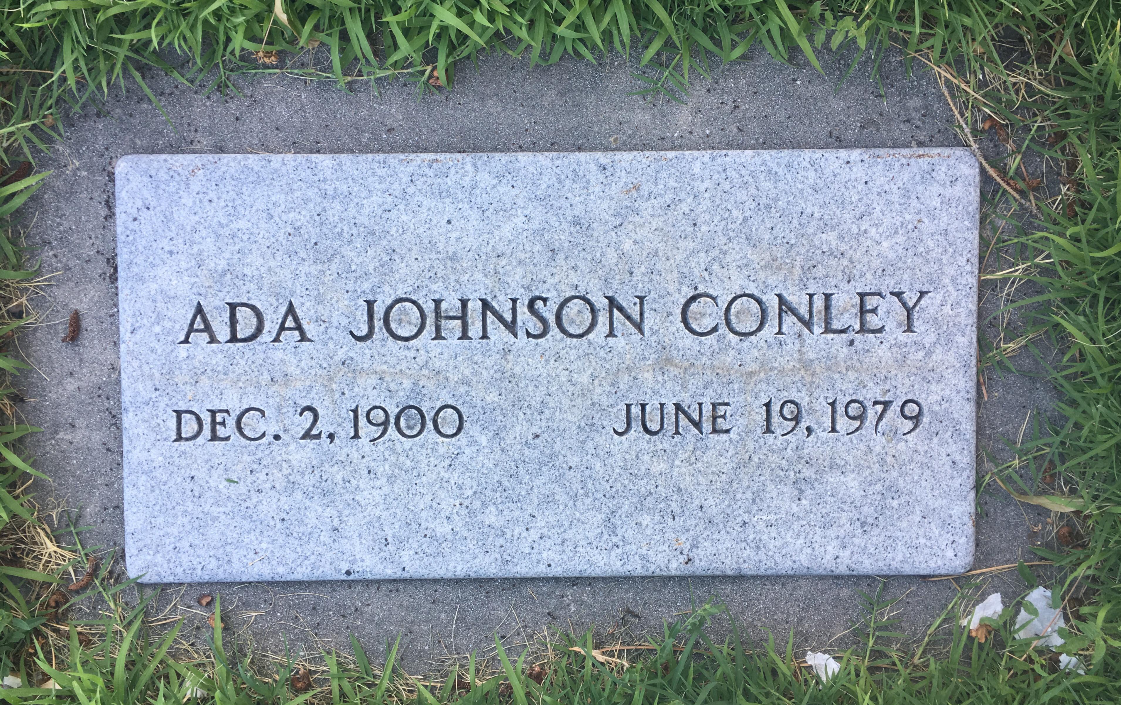 Ada <i>Nellen</i> Johnson Conley