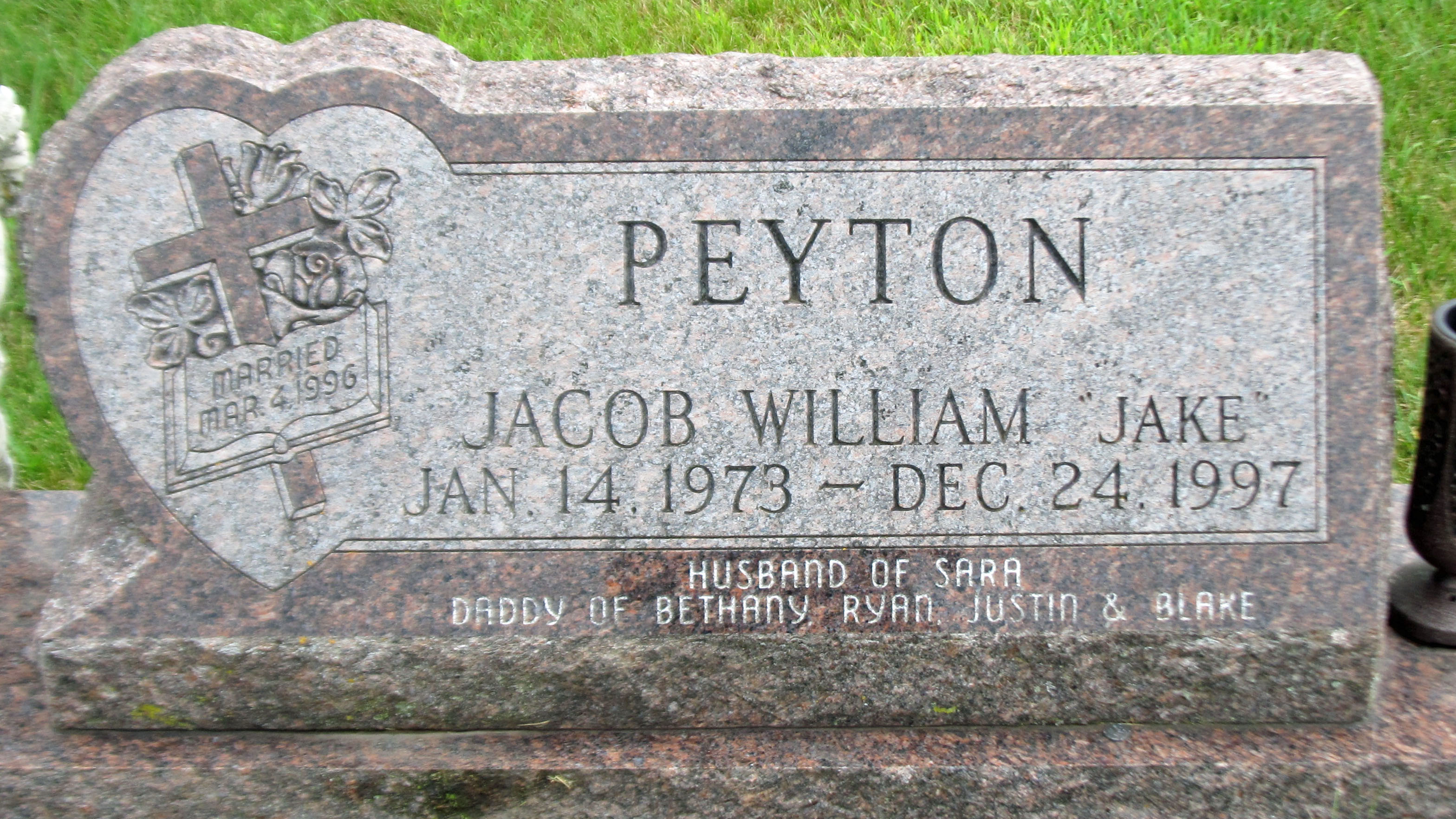 "Jacob William ""Jake"" Peyton (1973-1997) - Find A Grave Memorial"