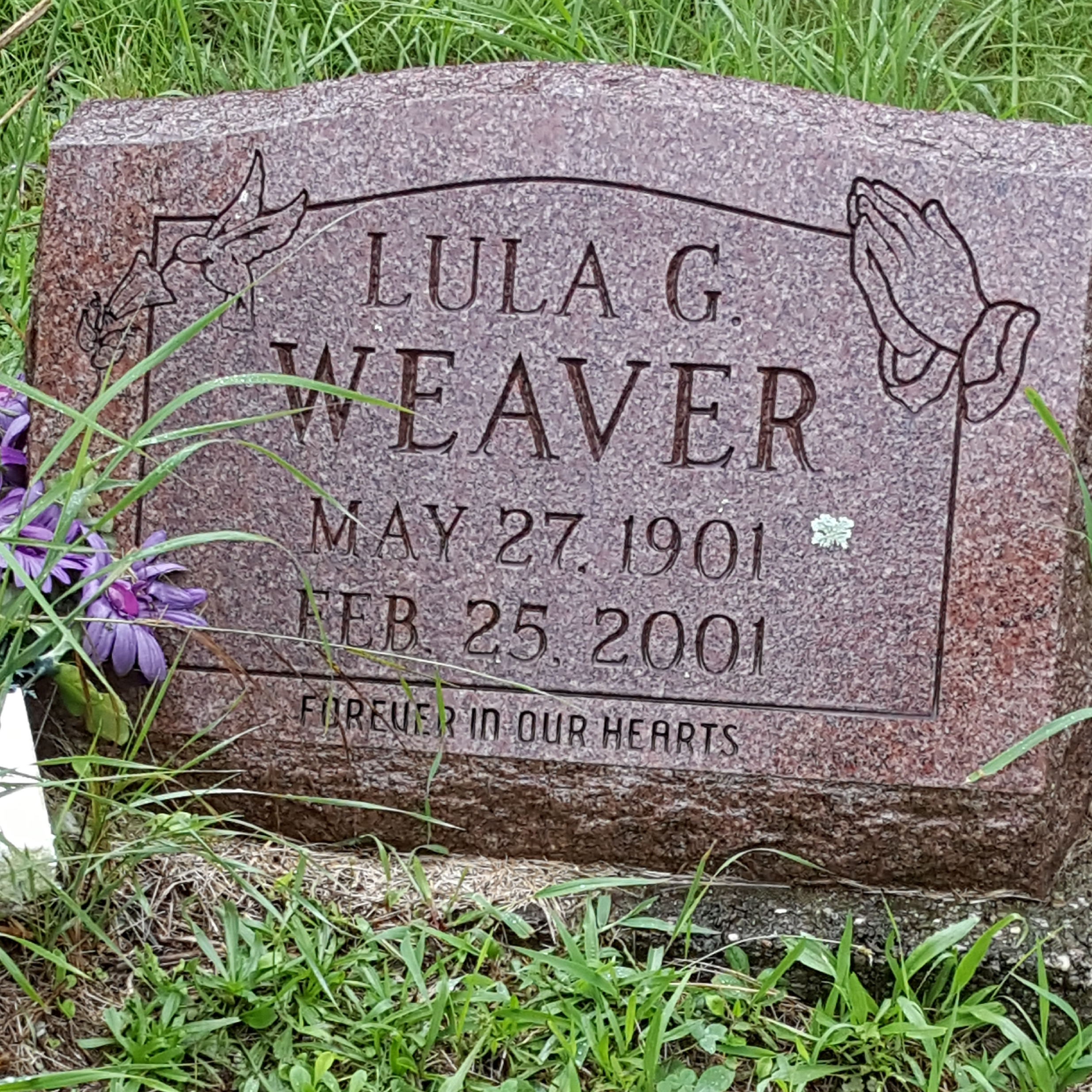 Lula Gertrude Criss Weaver 1901 2001 Find A Grave Memorial