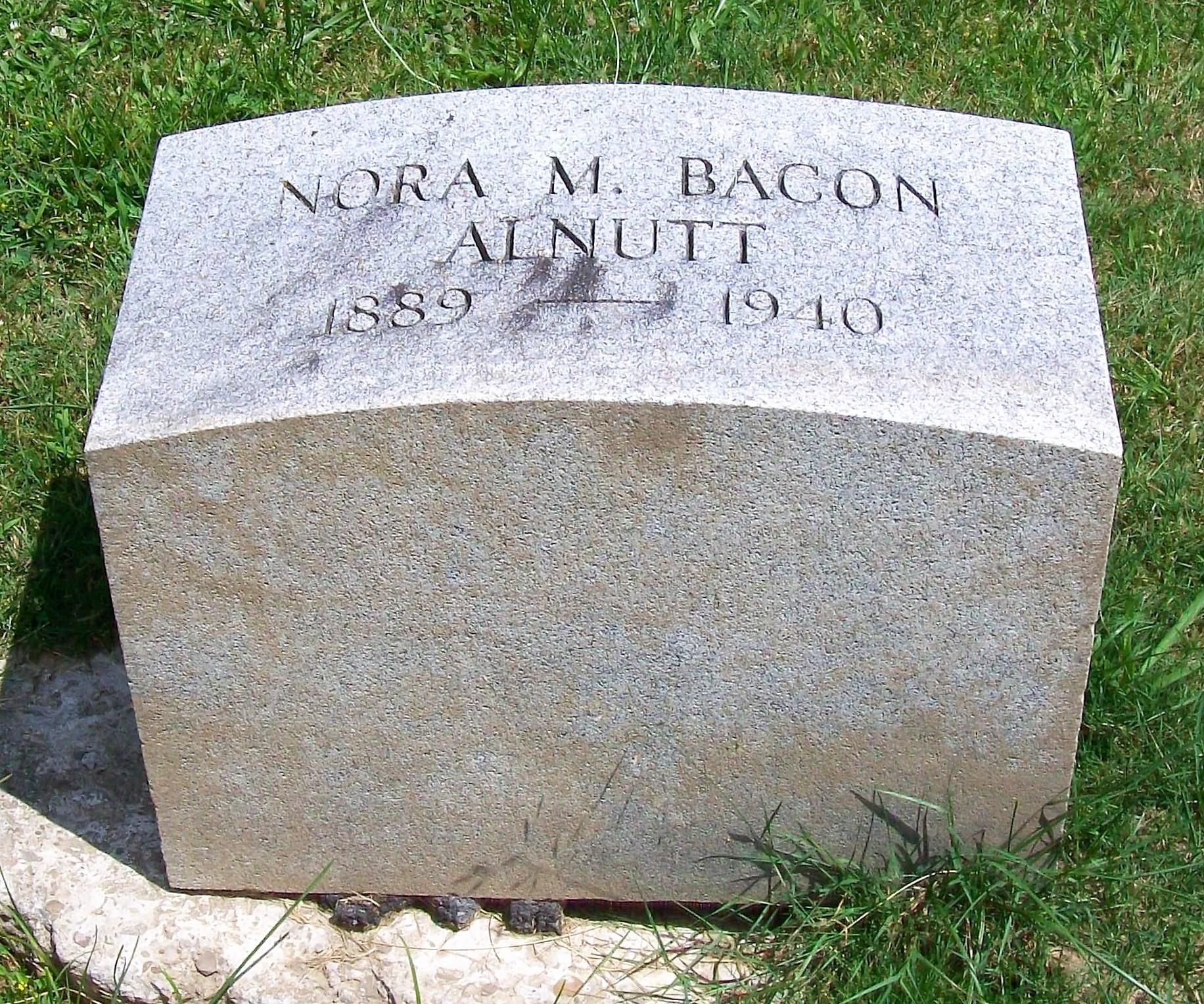 Nora M <i>Bacon</i> Alnutt