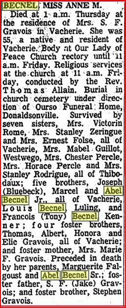 Anne M Becnel