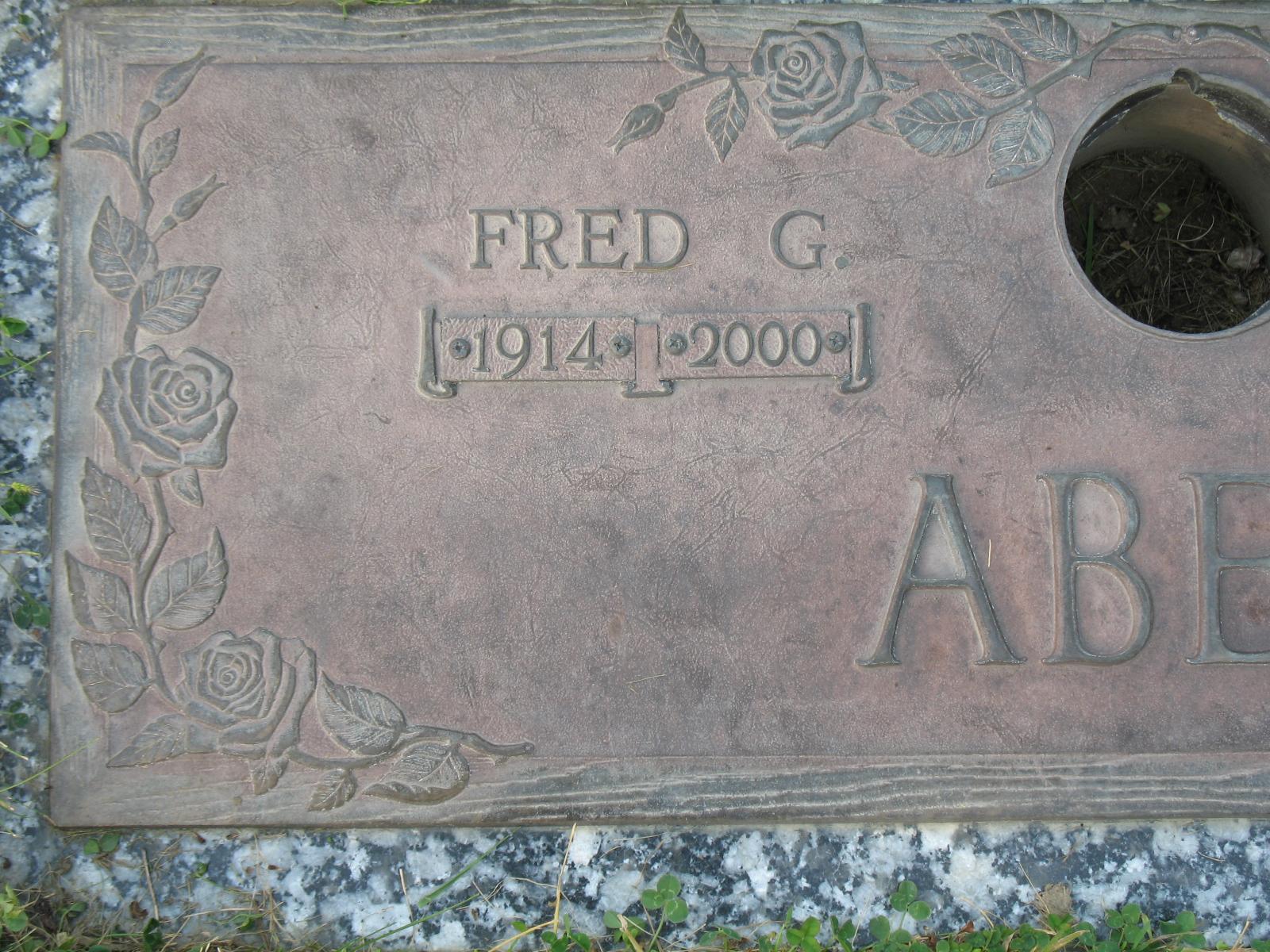Fredrick George Fred Abell