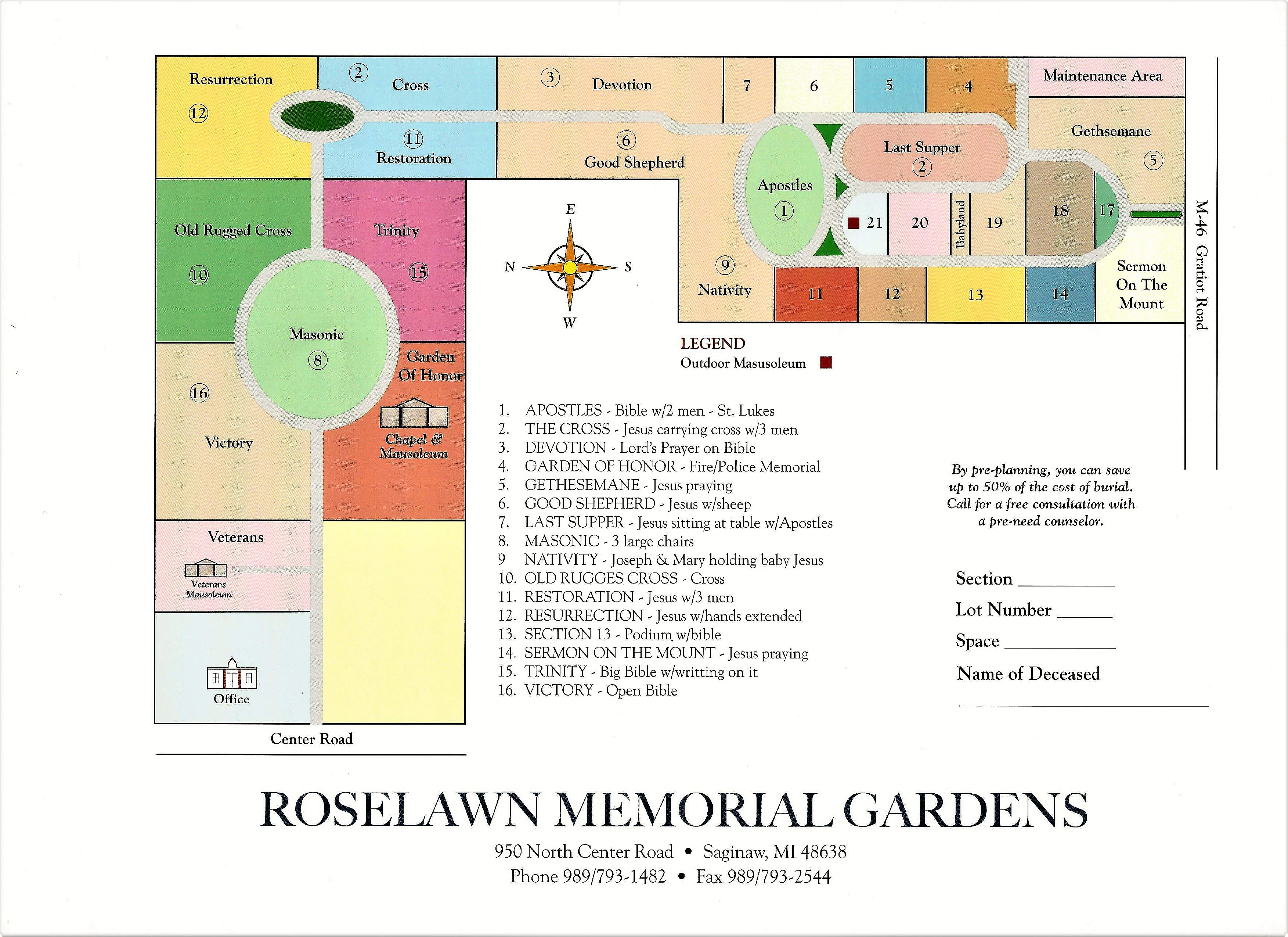 Roselawn Memorial Gardens in Saginaw, Michigan - Find A ... on wisconsin county map with roads, united states map with roads, clinton county map with roads, michigan county map with roads, denton county map with roads, gratiot county roads, wyoming map with roads, alabama county map with roads, pennsylvania county map with roads, jackson map with roads, hamilton county map with roads, georgia county map with roads, ohio county map with roads, dallas county map with roads,