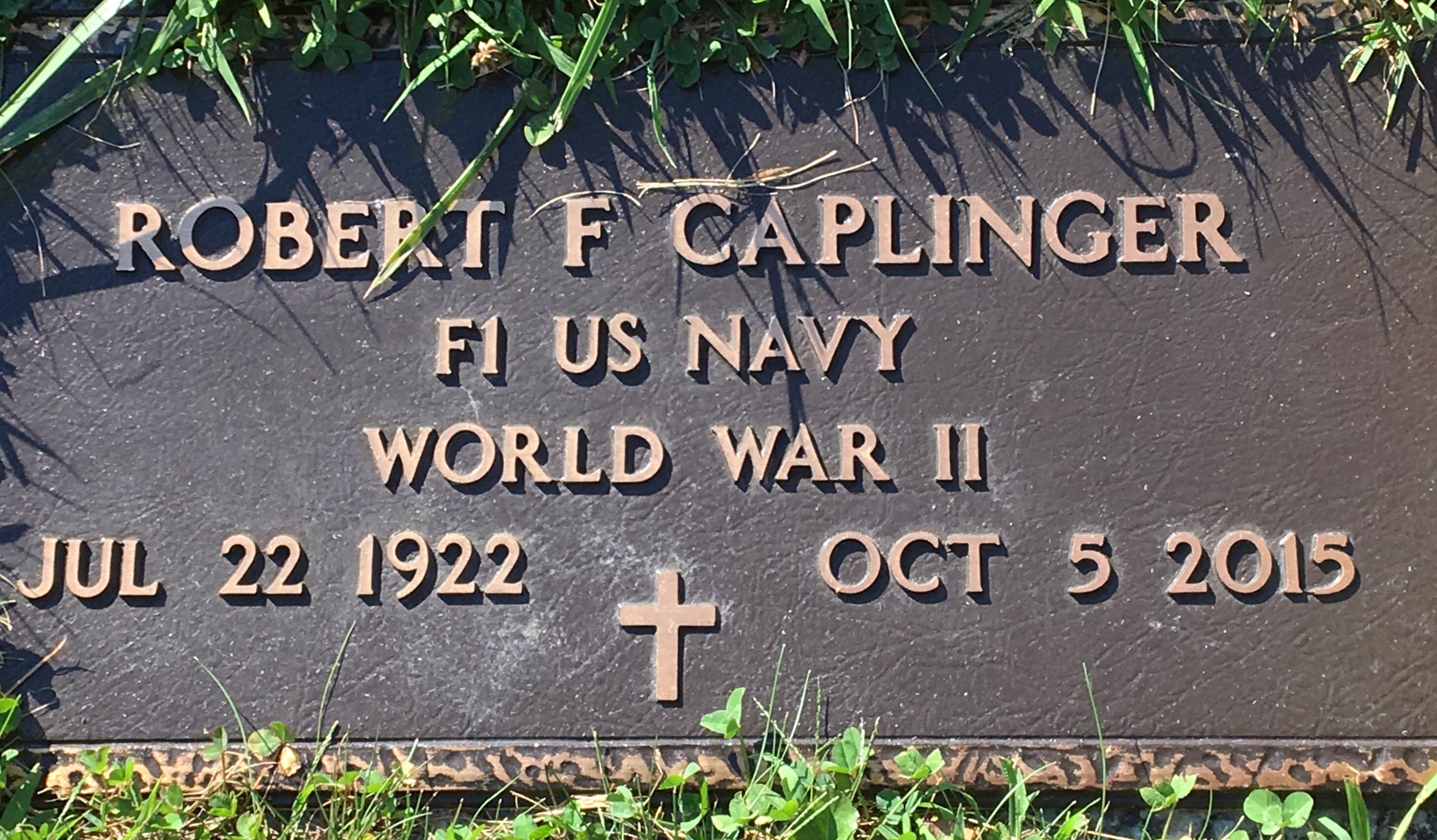 Robert F Bob Caplinger Find A Grave Memorial
