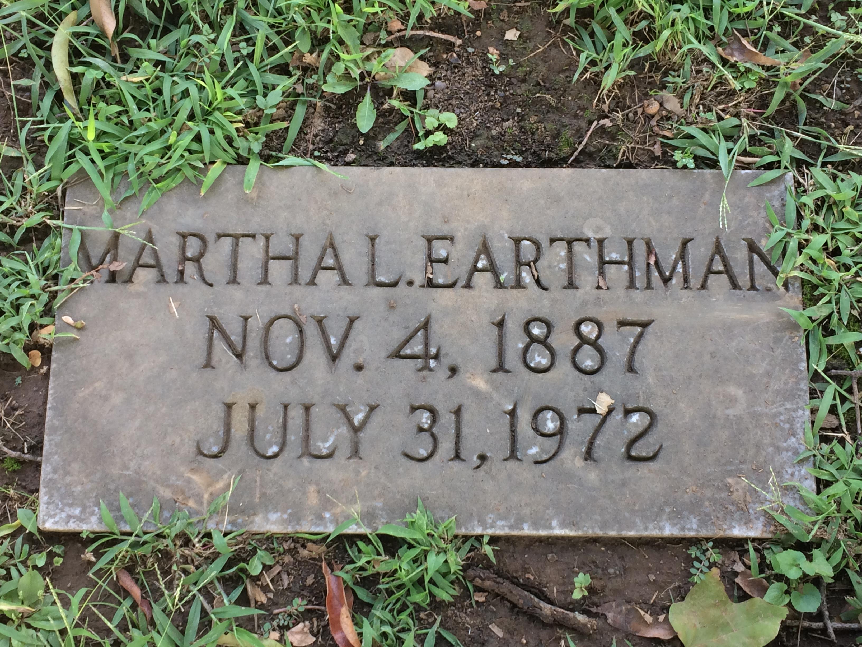 Martha A Mattie <i>Litchford</i> Earthman
