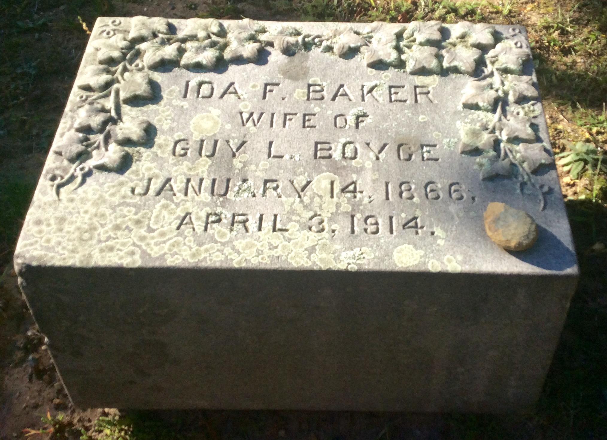 Ida Florence <i>Baker</i> Boyce