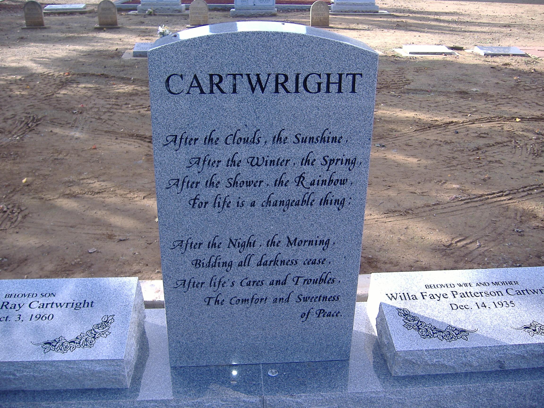 Willa Faye <i>Patterson</i> Cartwright