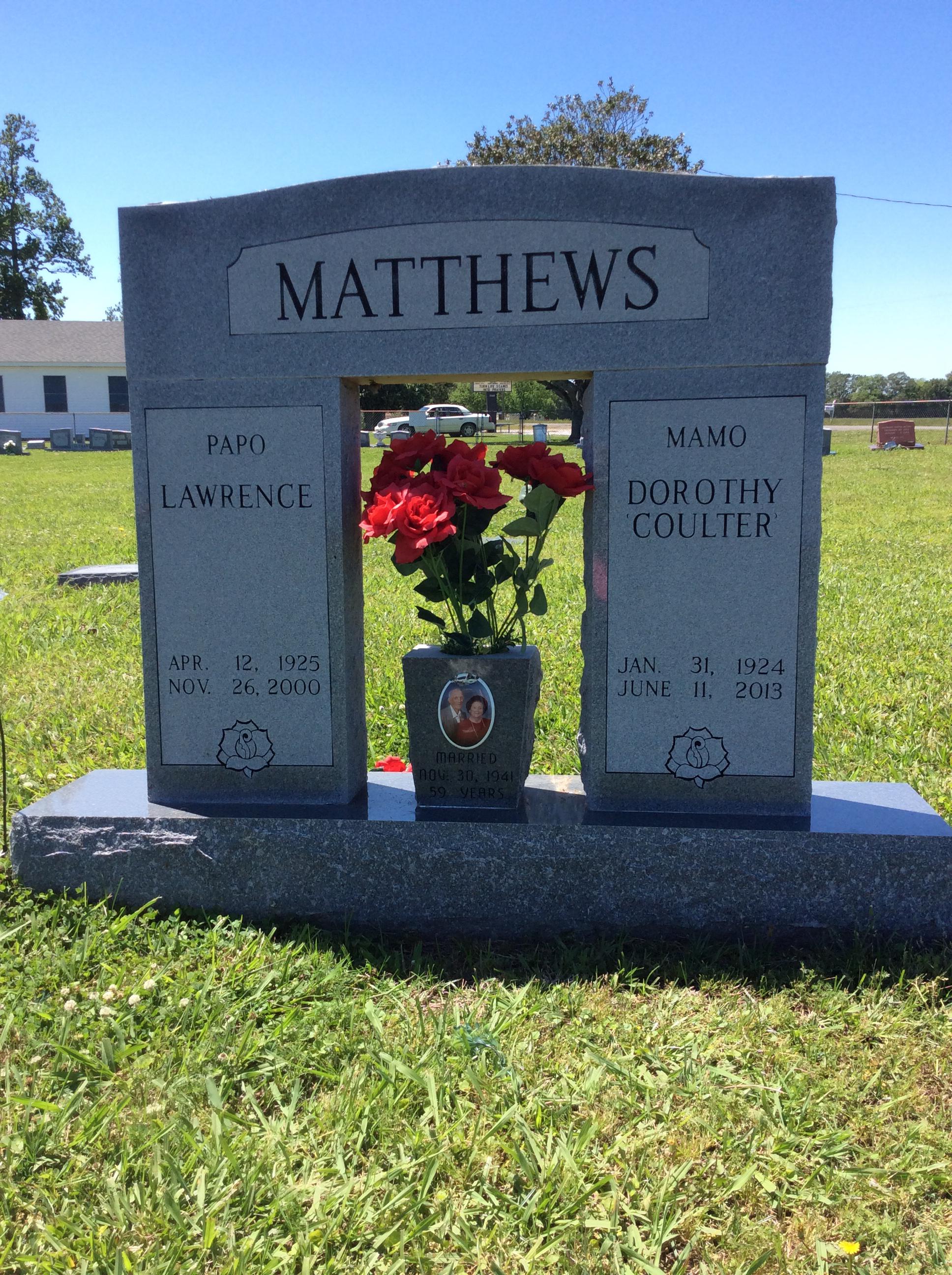 Dorothy Vivian <i>Coulter</i> Matthew