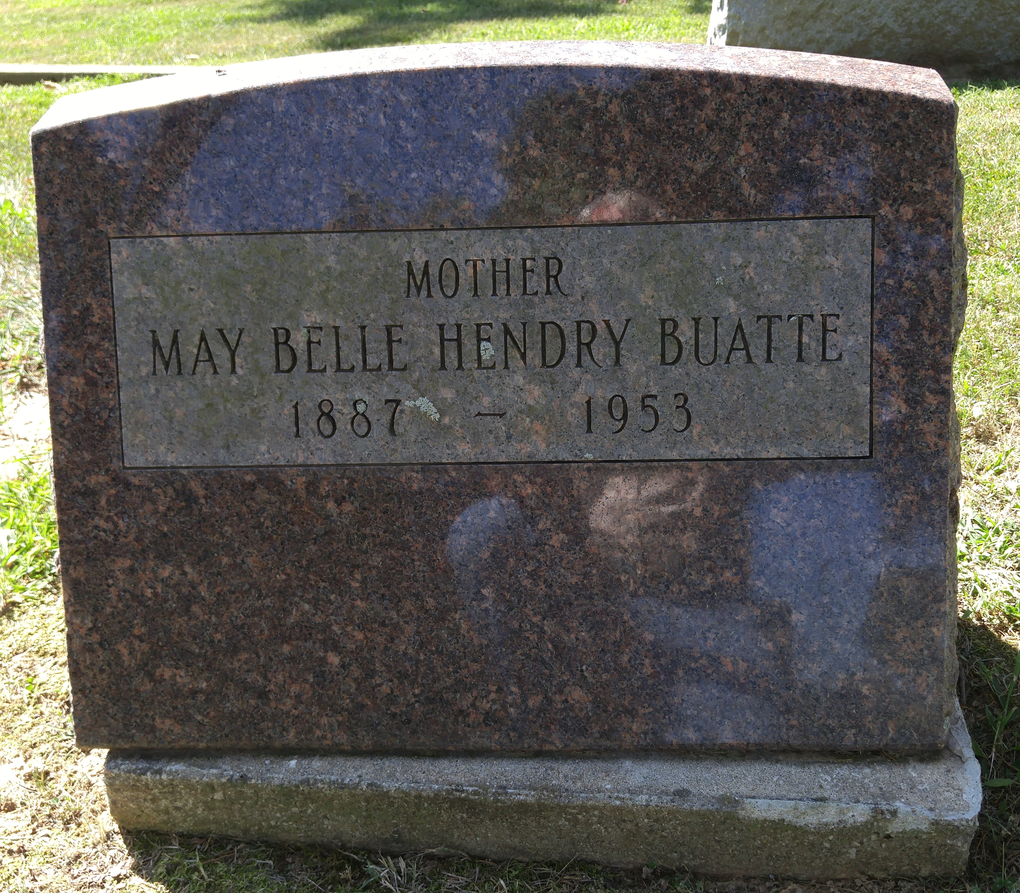 May Belle <i>Hendry</i> Buatte