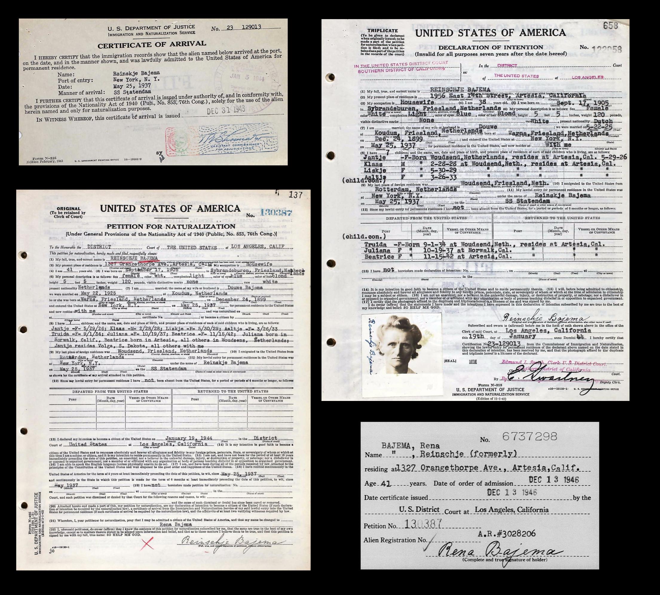 """Reinskje """"Rena"""" Alger Bajema (1905-1984) - Find A Grave Memorial"""
