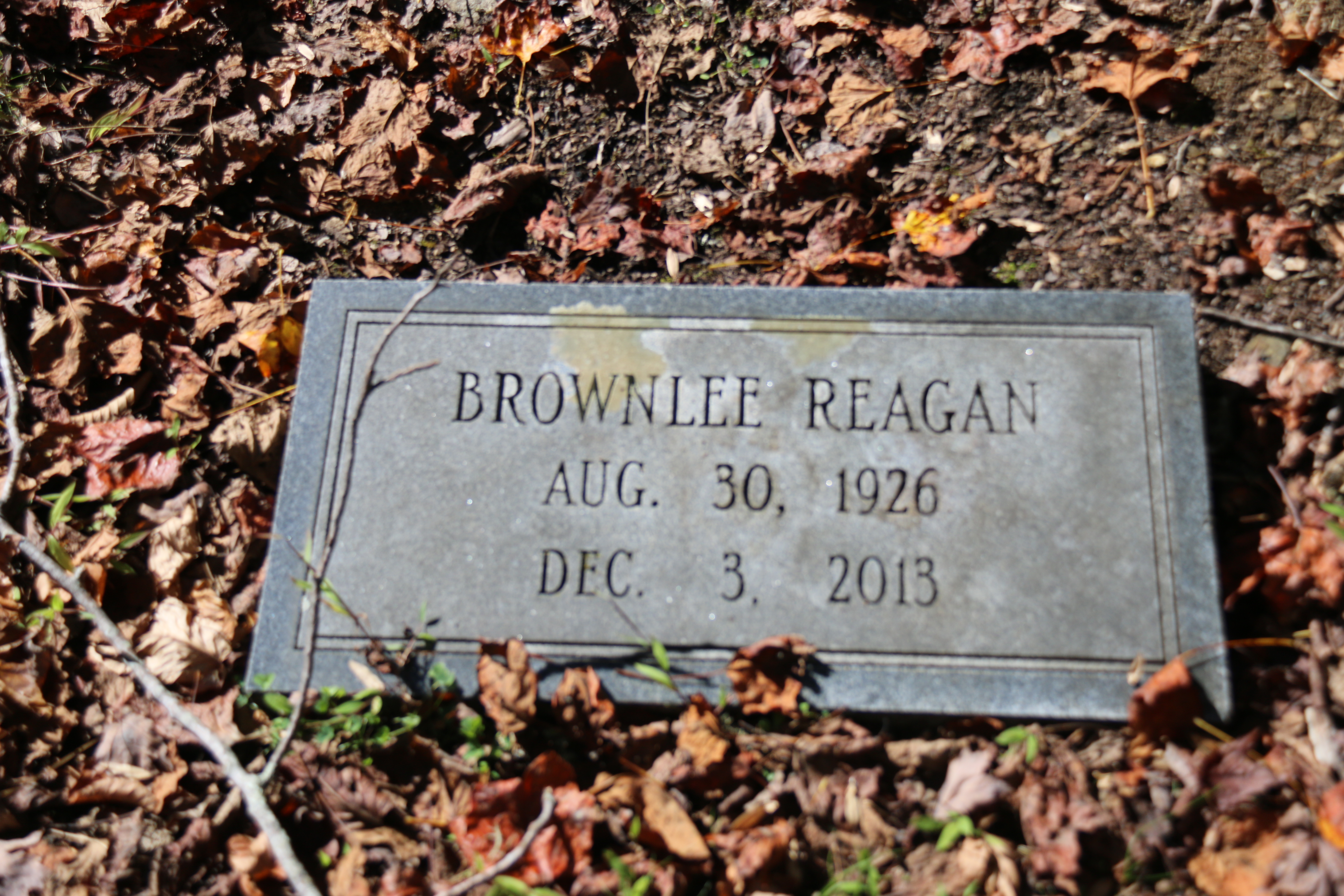 Brownlee Reagan Find A Grave Memorial
