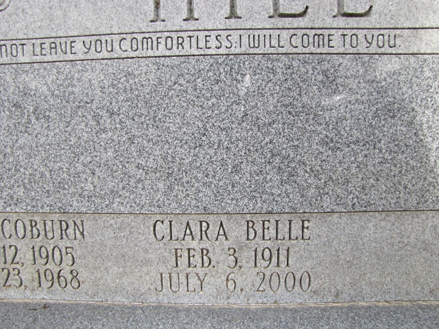 Clara Belle <i>Hall</i> Hill