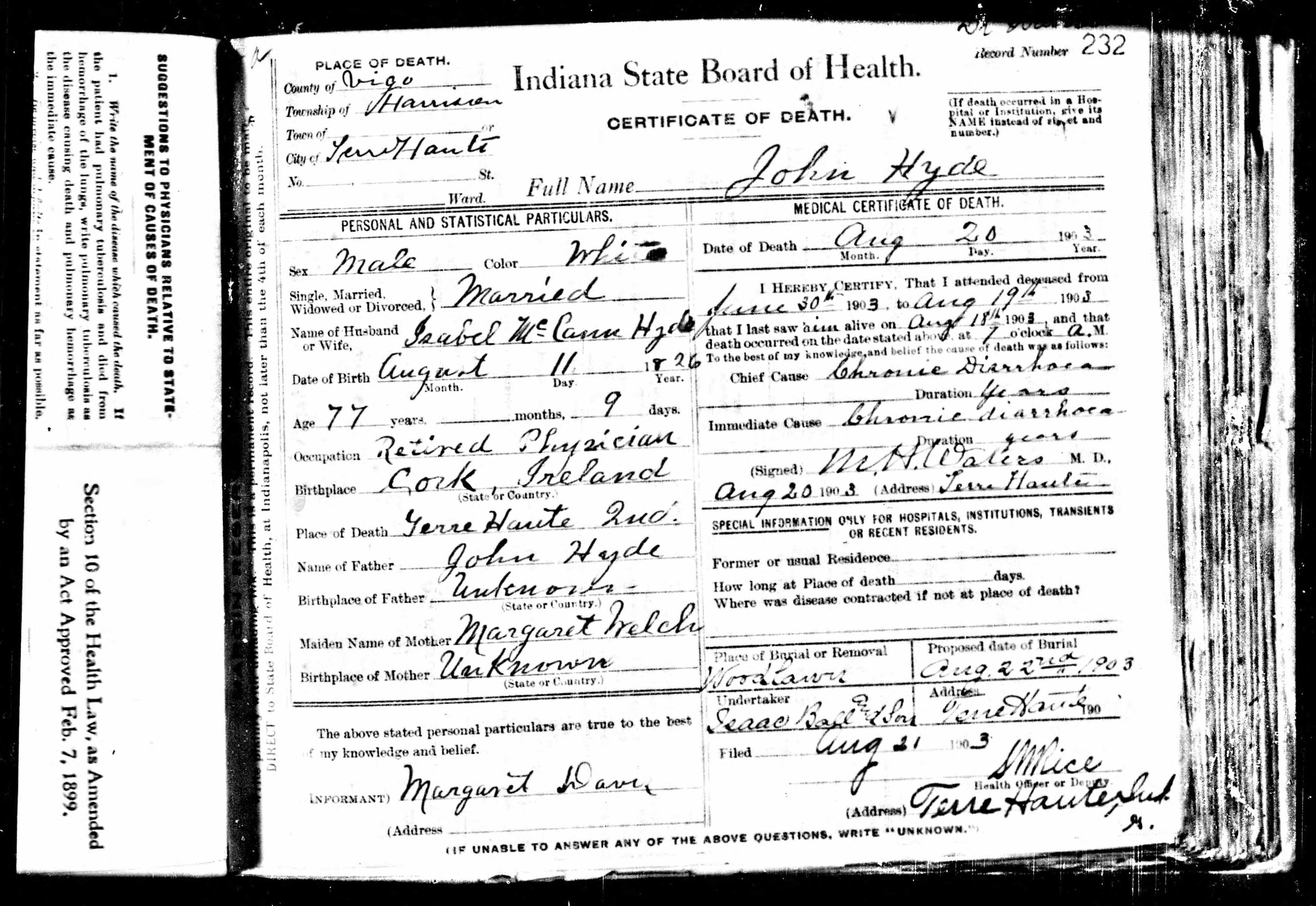Dr John Hyde Jr 1826 1903 Find A Grave Memorial