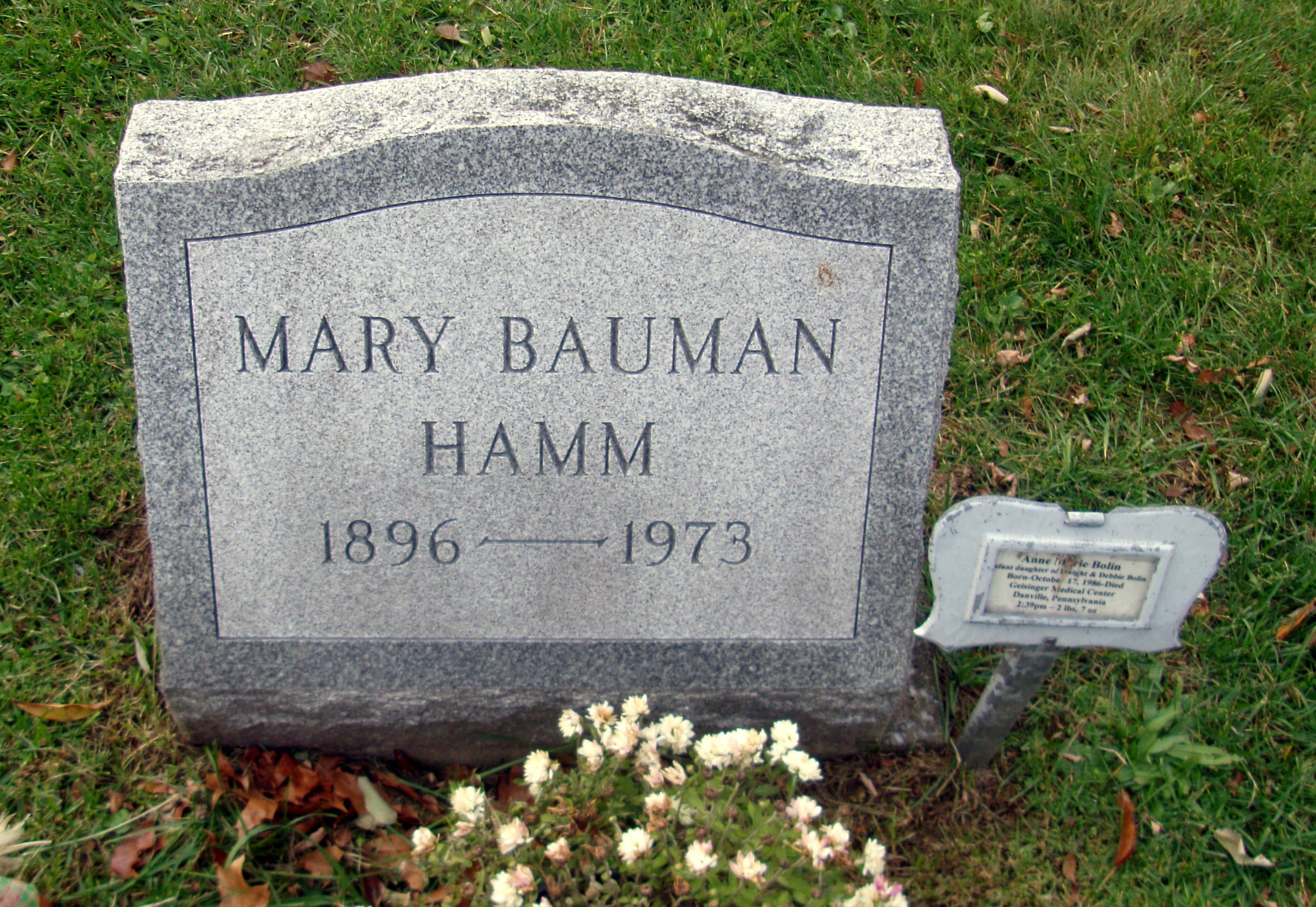 Mary <i>Bauman</i> Hamm
