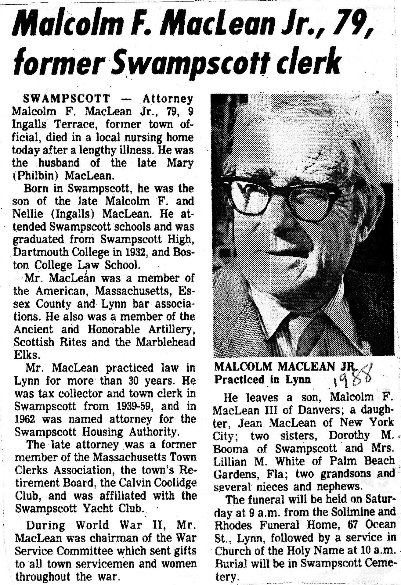 Malcolm Fraser MacLean, Jr (1909-1988) - Find A Grave Memorial
