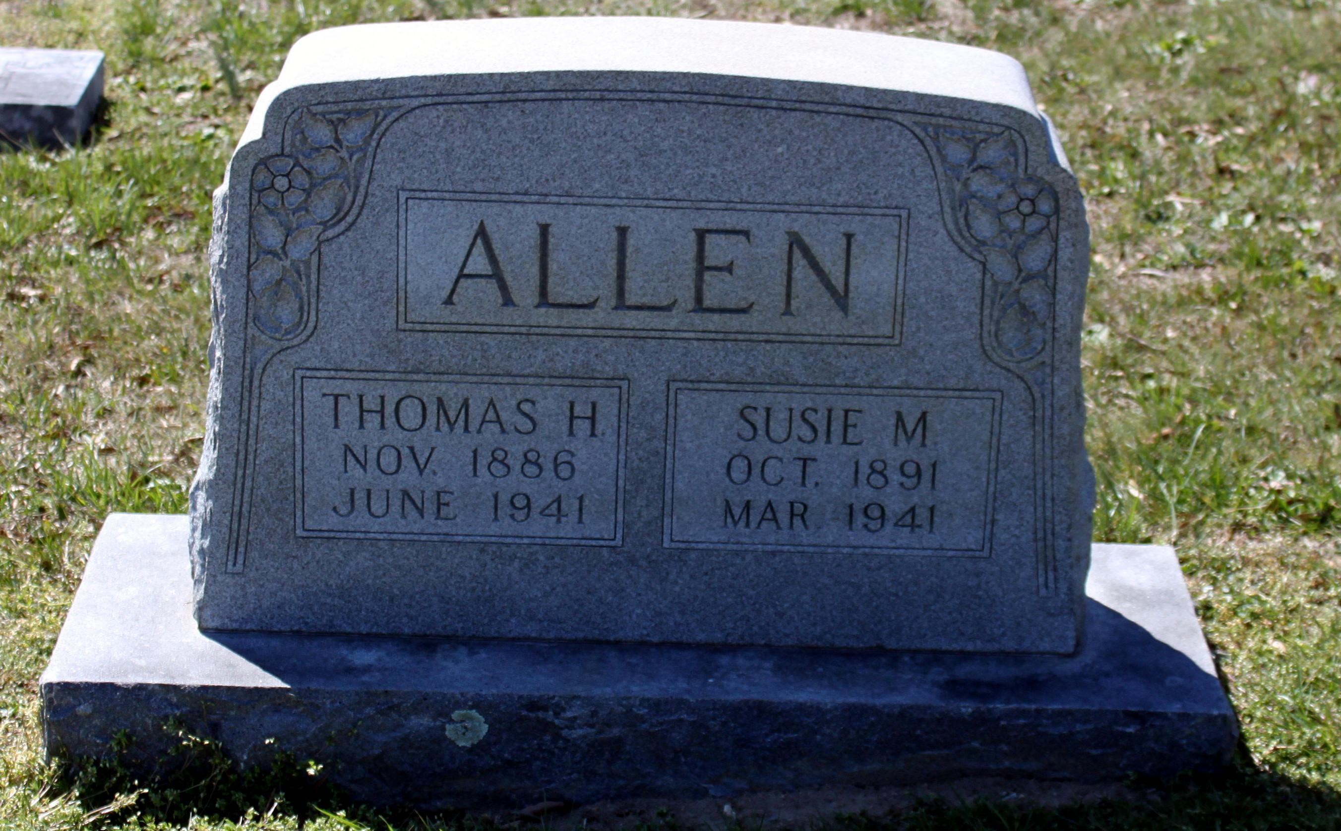 Susan Matilda Susie <i>McCrea</i> Allen