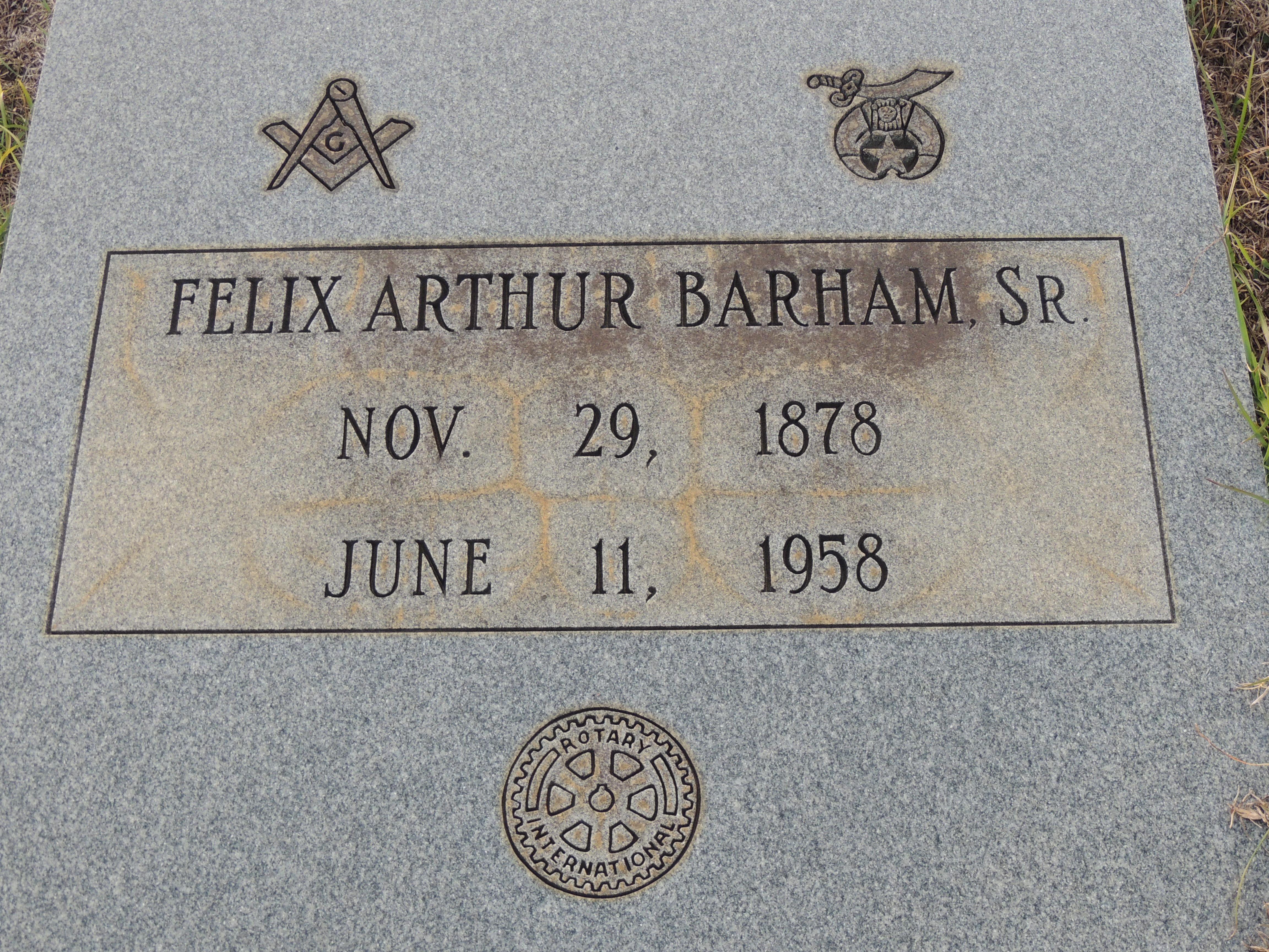 Felix Arthur Barham, Sr
