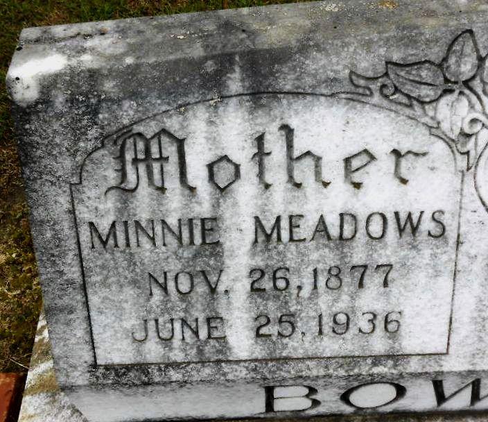 Minnie <i>Meadows</i> Bowen