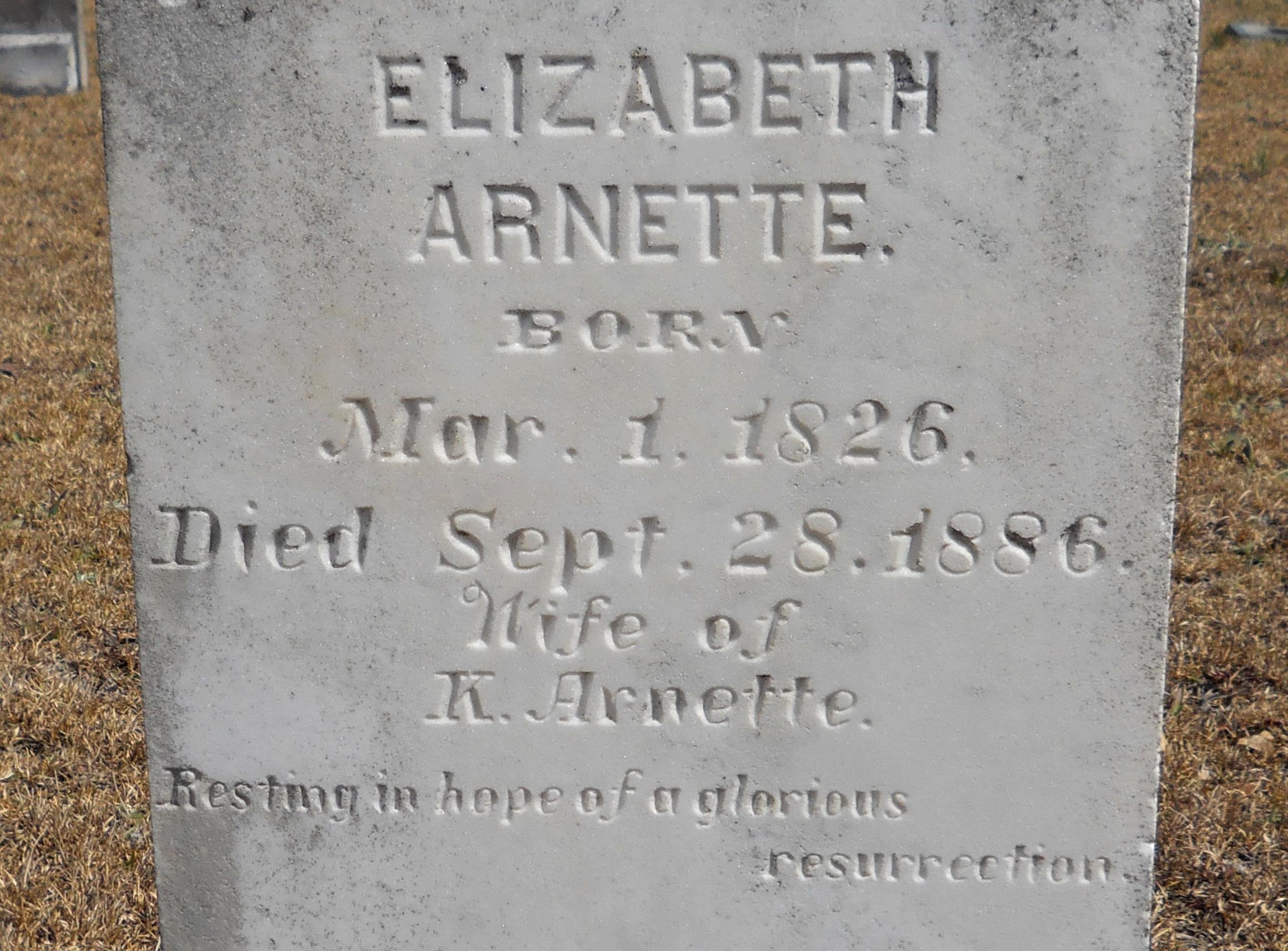 Elizabeth <i>Barfield</i> Arnette
