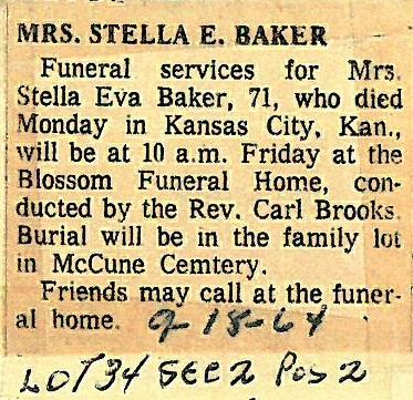 Stella Eva <i>Cessna</i> Baker