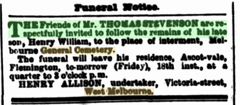 Henry William Stevenson (1862-1866) - Find A Grave Memorial