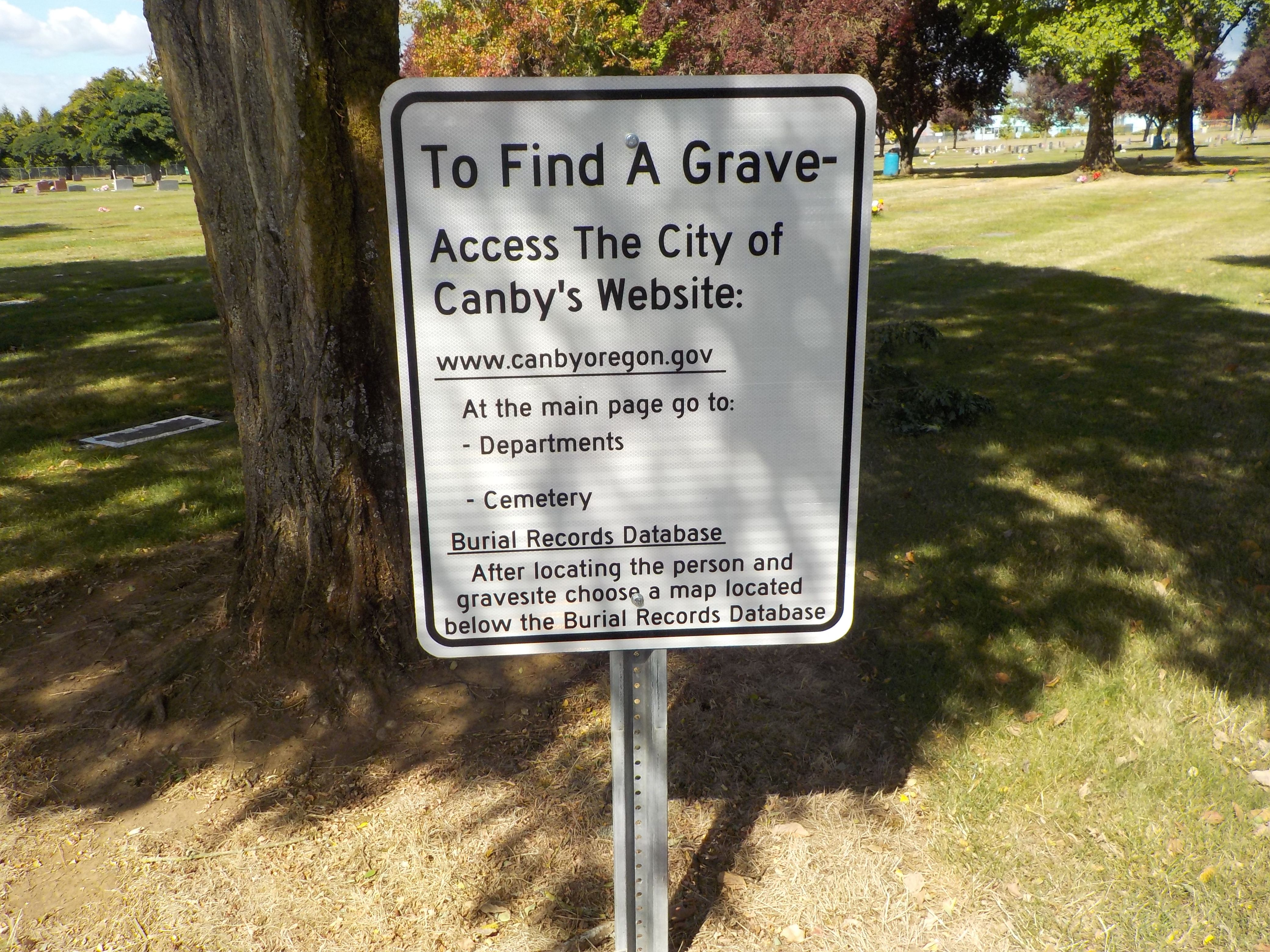 Zion Memorial Park in Canby, Oregon - Find A Grave Cemetery
