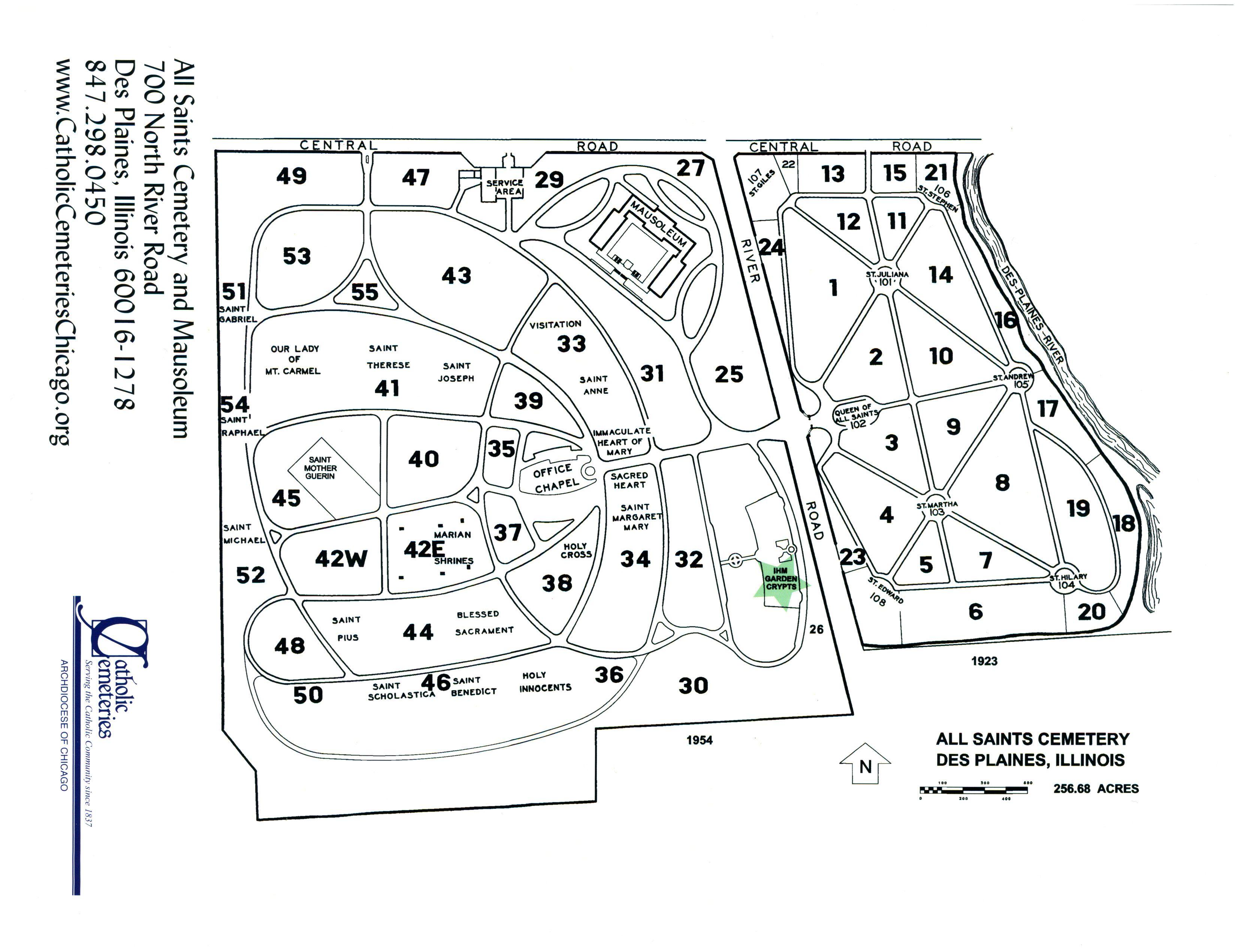All Saints Catholic Cemetery and Mausoleum in Des Plaines ...